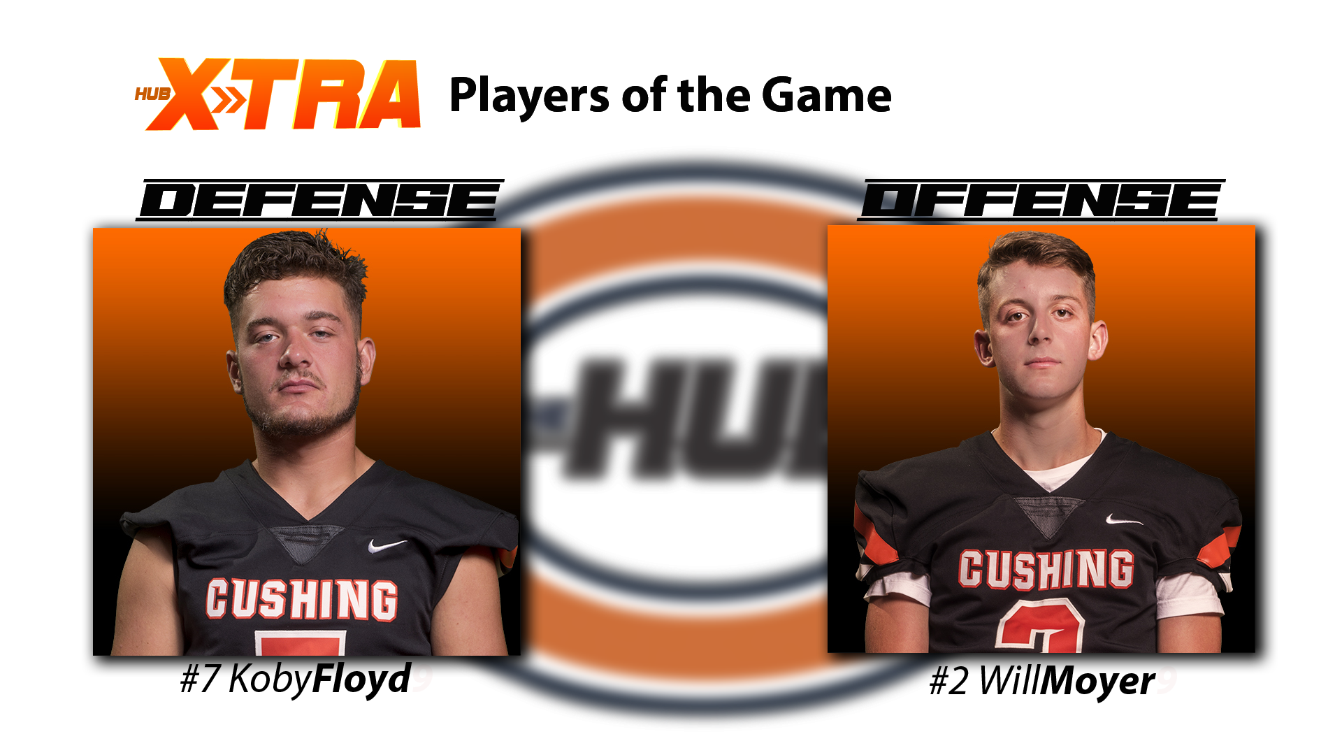 Offensive and defensive players of the game - Will Moyer & Koby Floyd