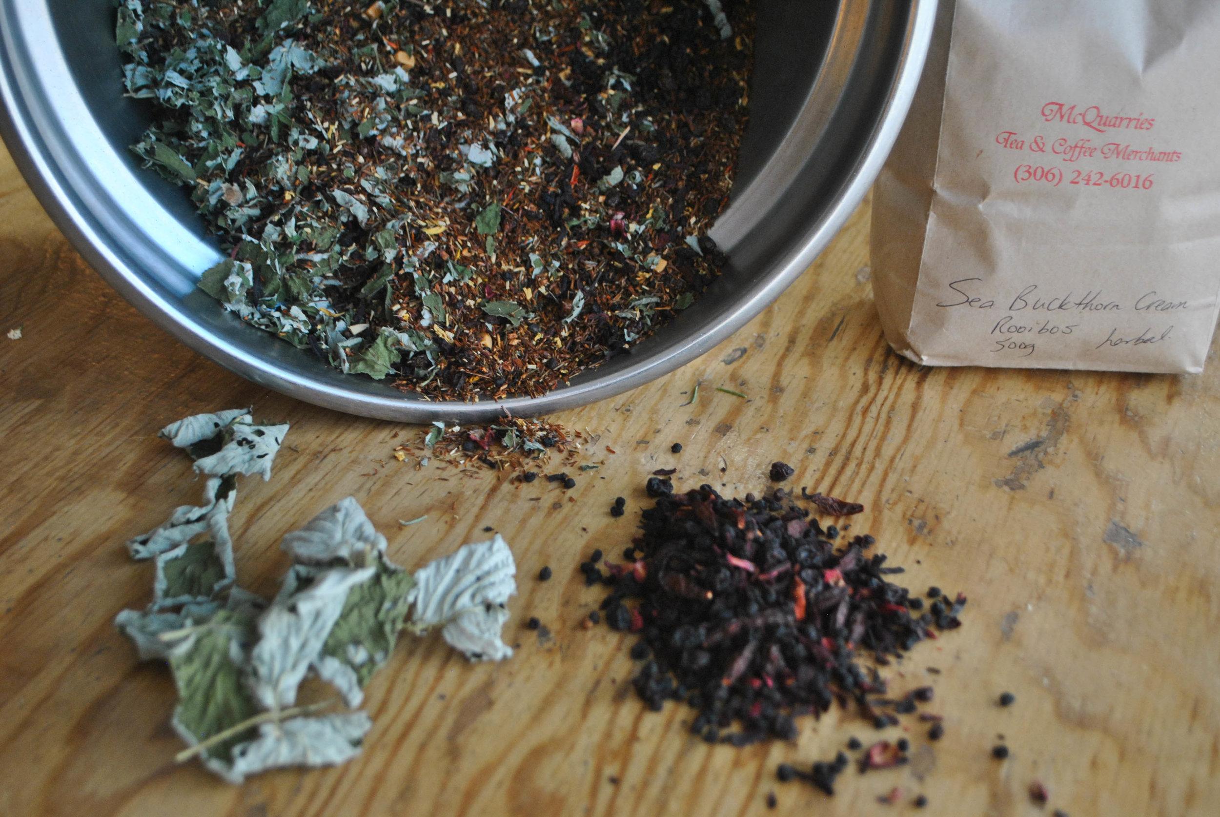 Fruity Tea : Herbal, Fun, Antioxidant.Pear Rooibos, Raspberry Leaf, Rosehip, Foraged Berries, Seabuckthorn
