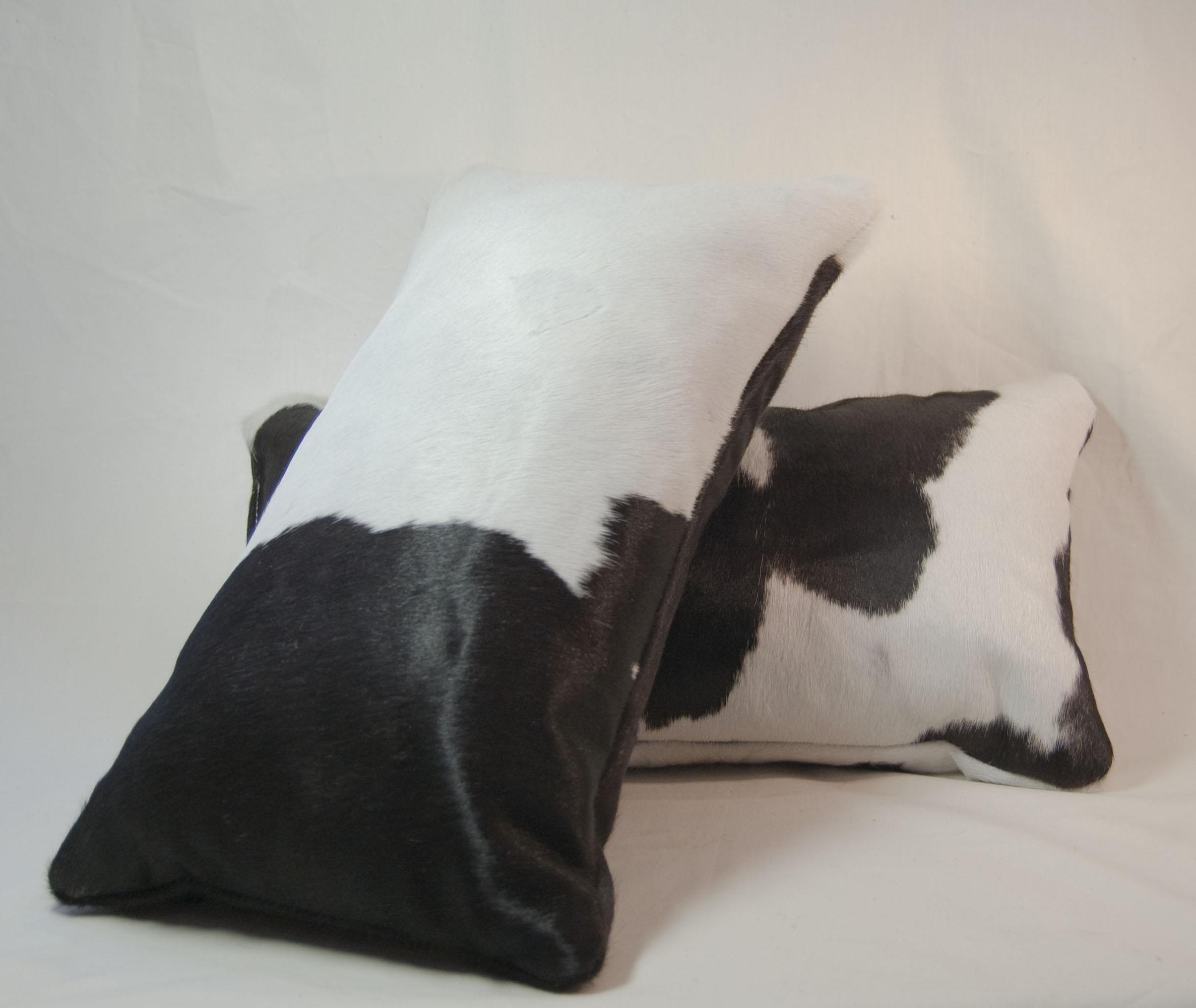 cowhide pillows
