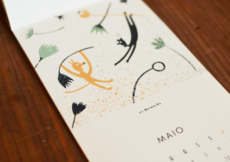 calendário beija-flor Mariana Rio