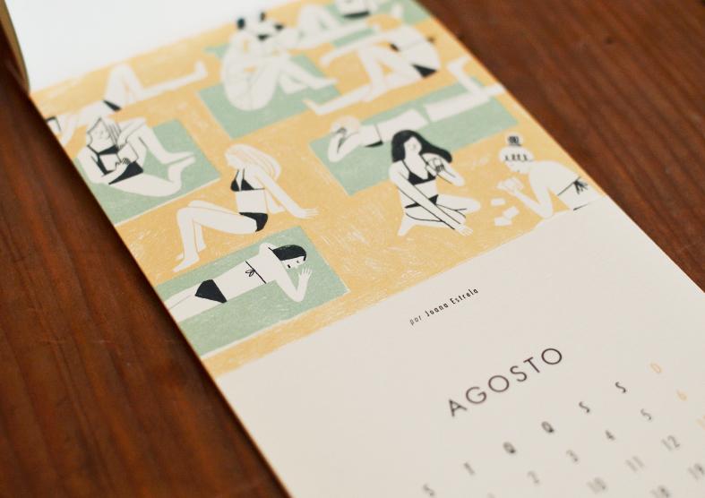 calendário beija-flor Joana Estrela