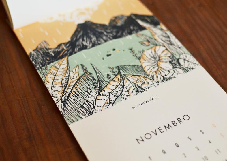 calendário beija-flor Carolina Maria