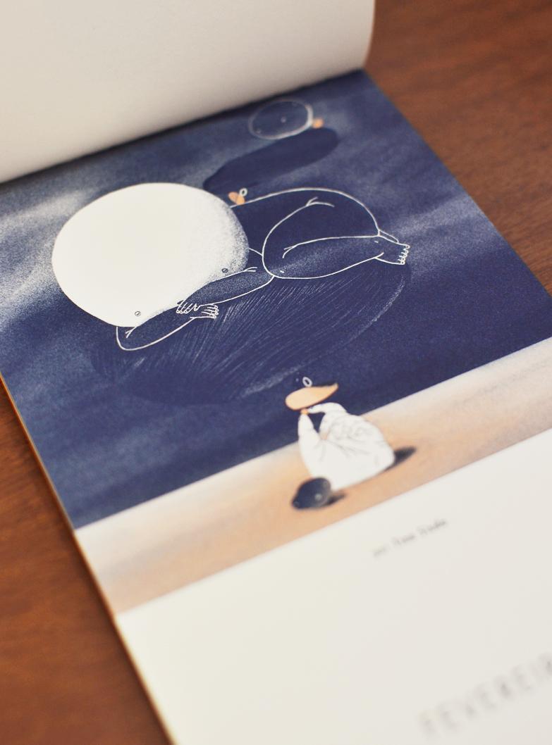 Fevereiro, ilustrado por Tina Siuda /  February, illustrated by Tina Siuda.