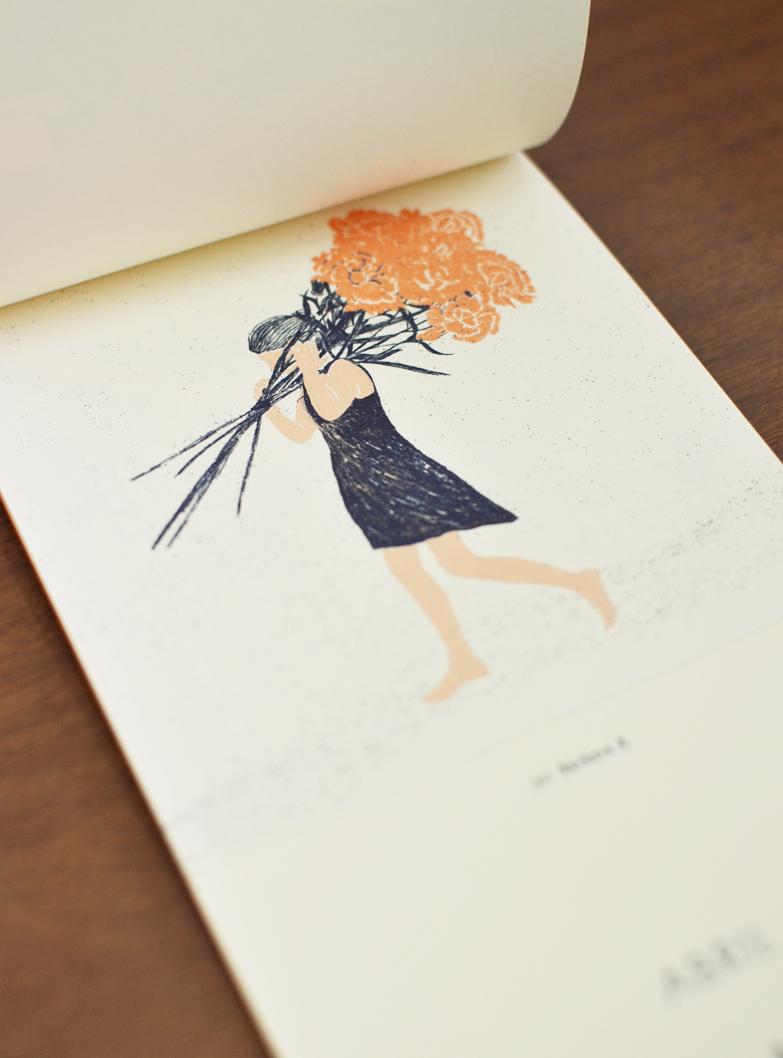 Abril, ilustrado por Bárbara R. /  April, illustrated by Bárbara R.