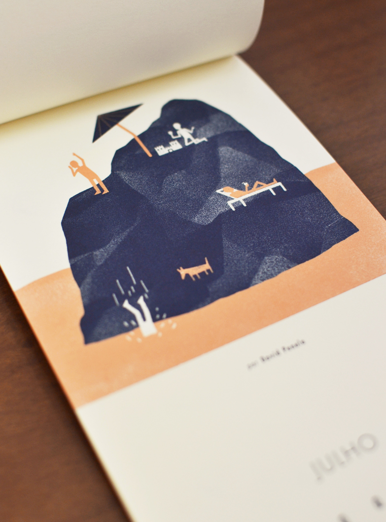 Julho, ilustrado por David Penela /  Jully, illustrated by David Penela