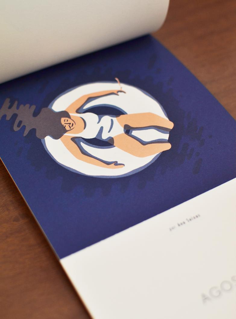 Agosto, ilustrado por Ana Seixas /  August, illustrated by Ana Seixas