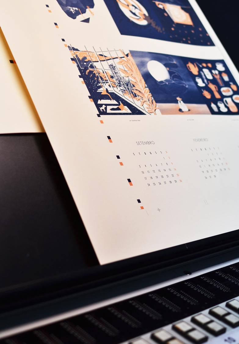 calendário beija-flor