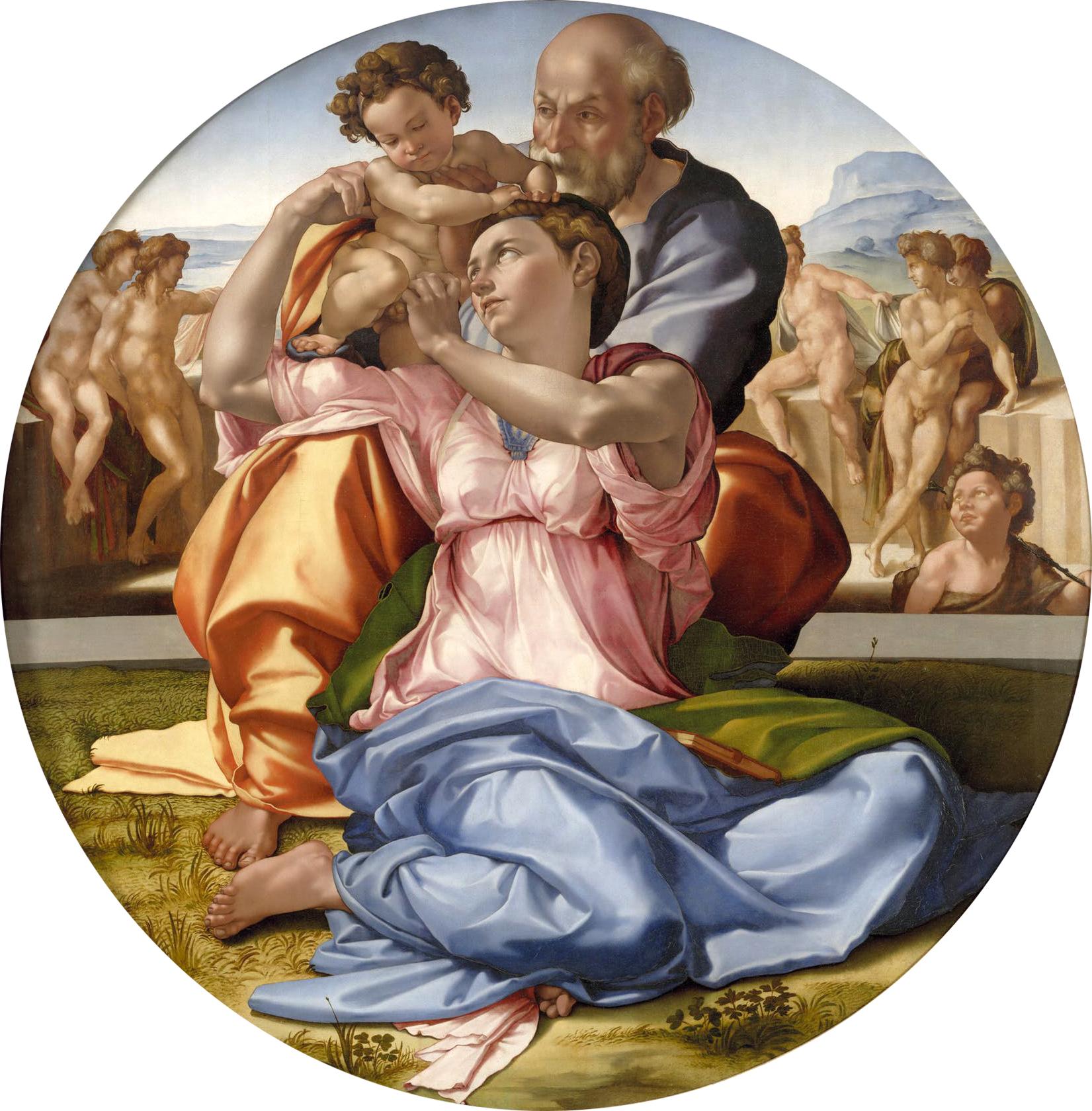 Michelangelo- Doni Madonna, 1507, Uffizi Florence