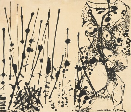 "Jackson Pollock,  Number 7, 1951 , enamel on canvas, 56 1/2 x 66"", National Gallery, Washington DC"