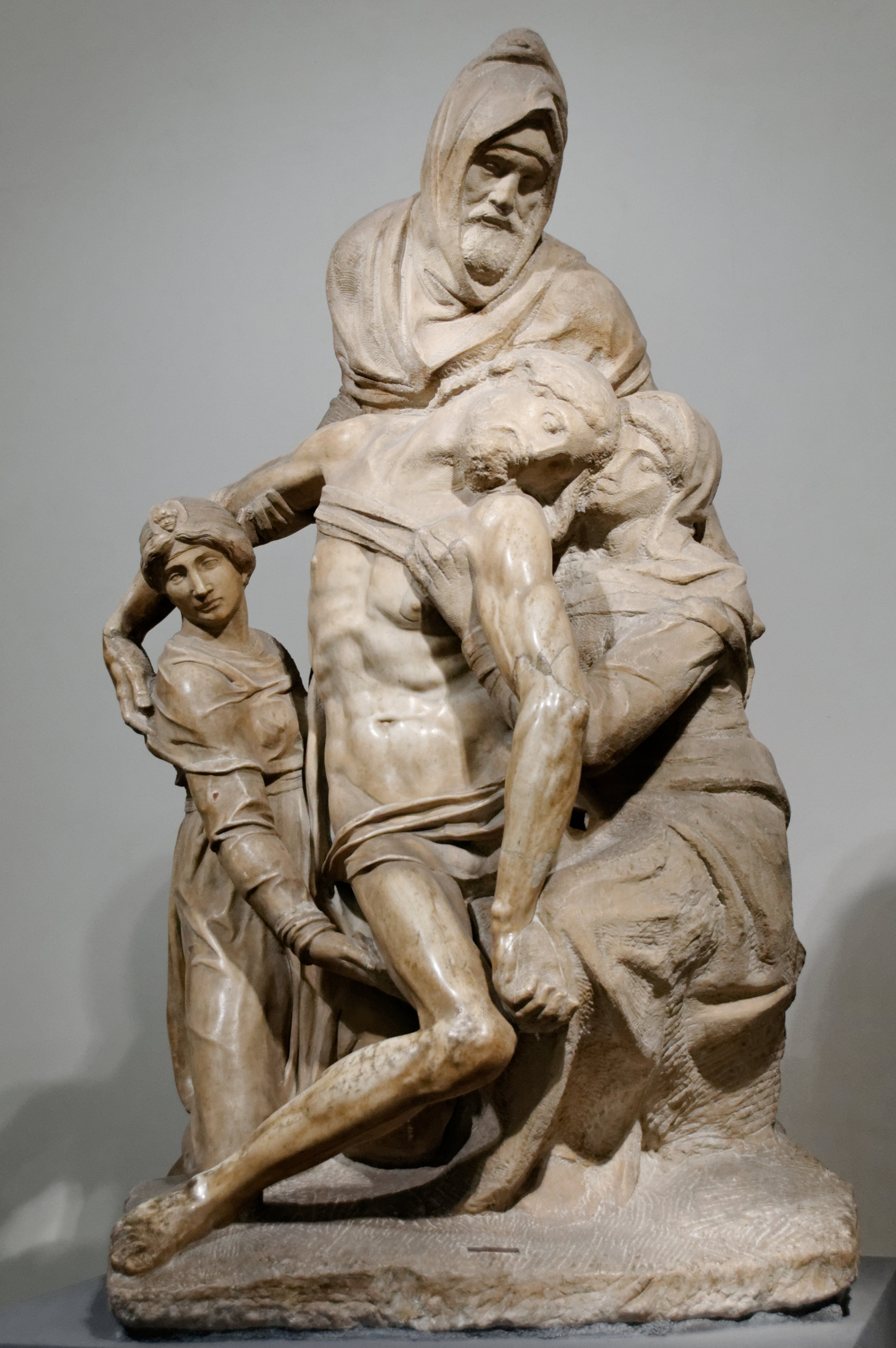 Michelangelo,  The Deposition (The Florentine Pieta),  1547-55, marble, Museo dell'Opera del Duomo, Florence