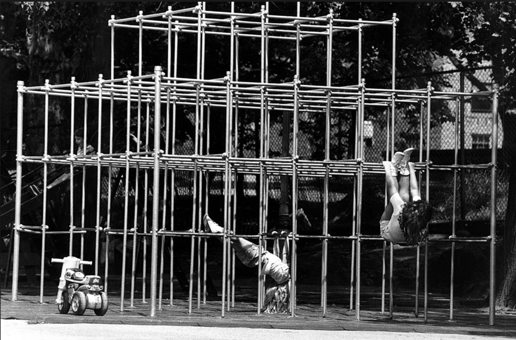 old jungle gym, photo courtesy The NY Times