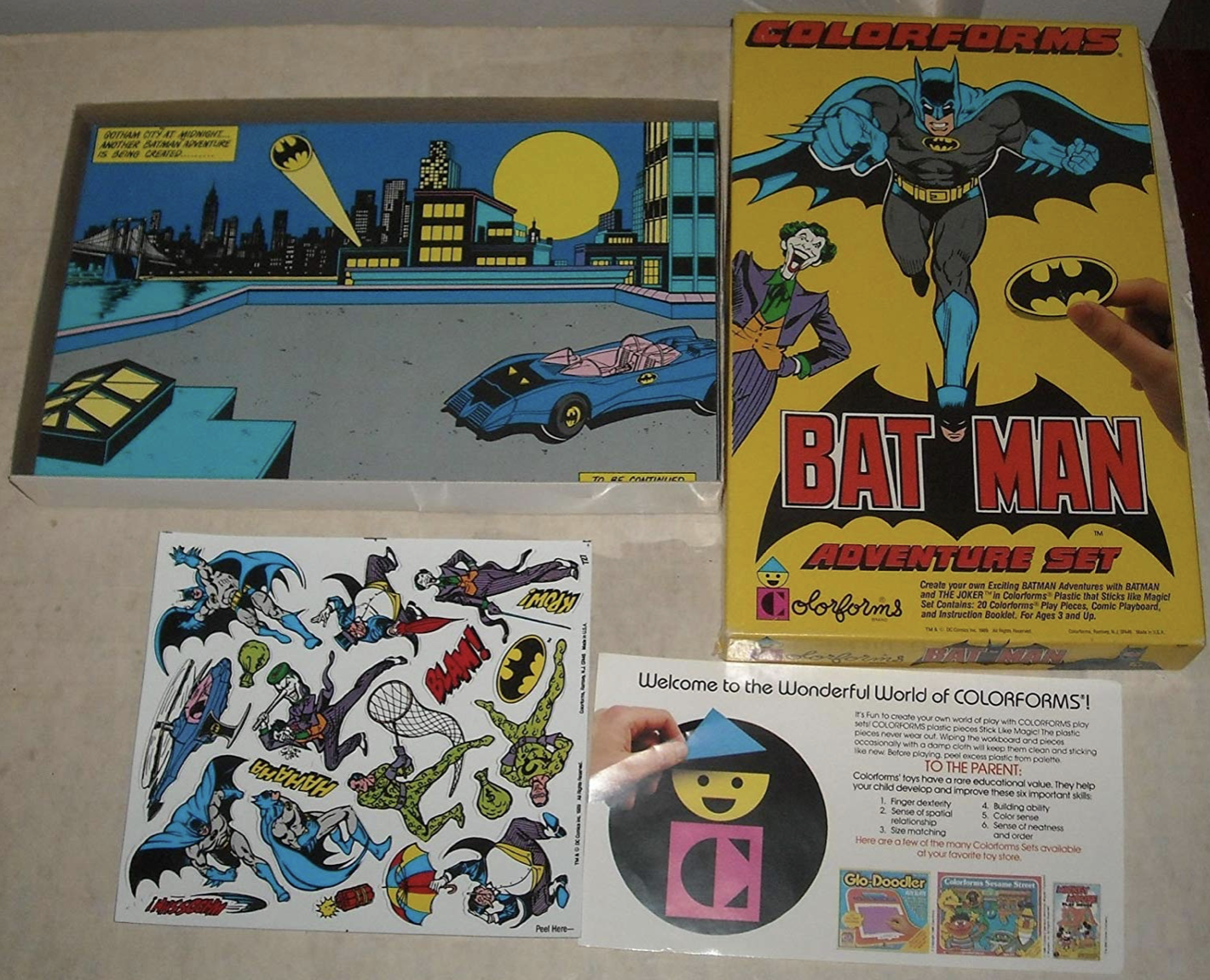 Batman Colorforms like I had as a child. Courtesy of Amazon