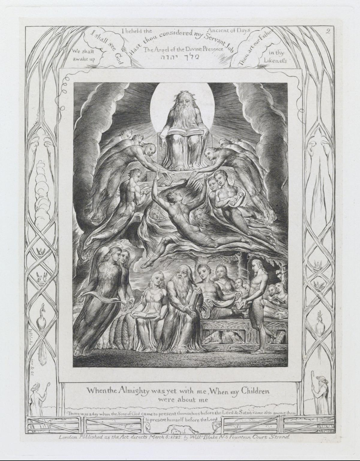 "William Blake-  Satan before the Throne of God , engraving, 7 5/8 x5 7/8"", 1825, image courtesy of the Tate"