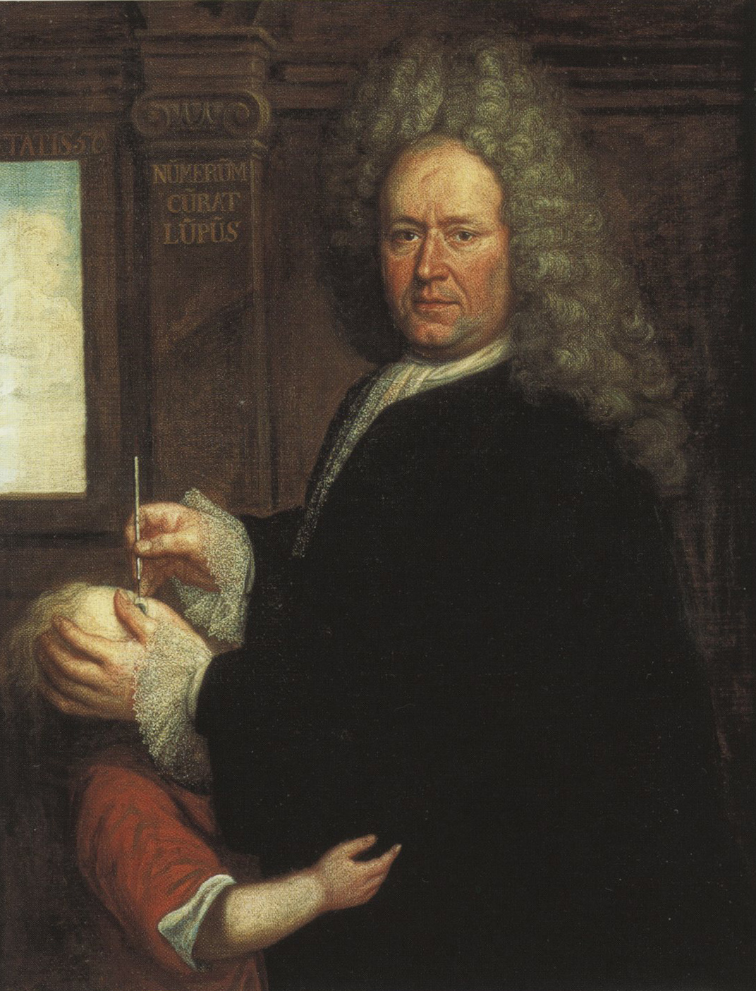Unknown painter,  Portrait of Franciscus de Wulf,  oil on canvas, early 18th c., 100x78cm, image courtesy of the St. John's Hospital museum catalog, Bruges