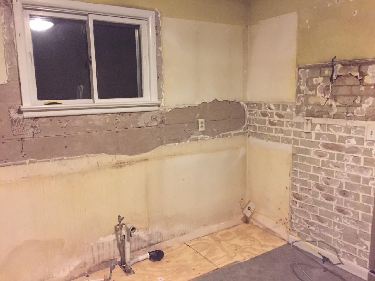 Demo'd kitchen