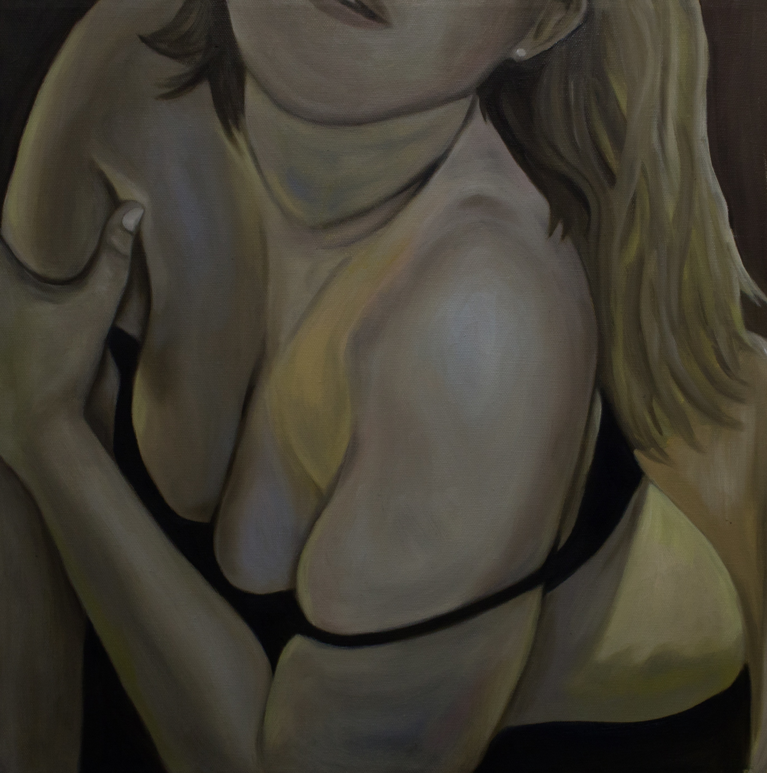 "Net   18""x 18"" Oil on Canvas 2015"