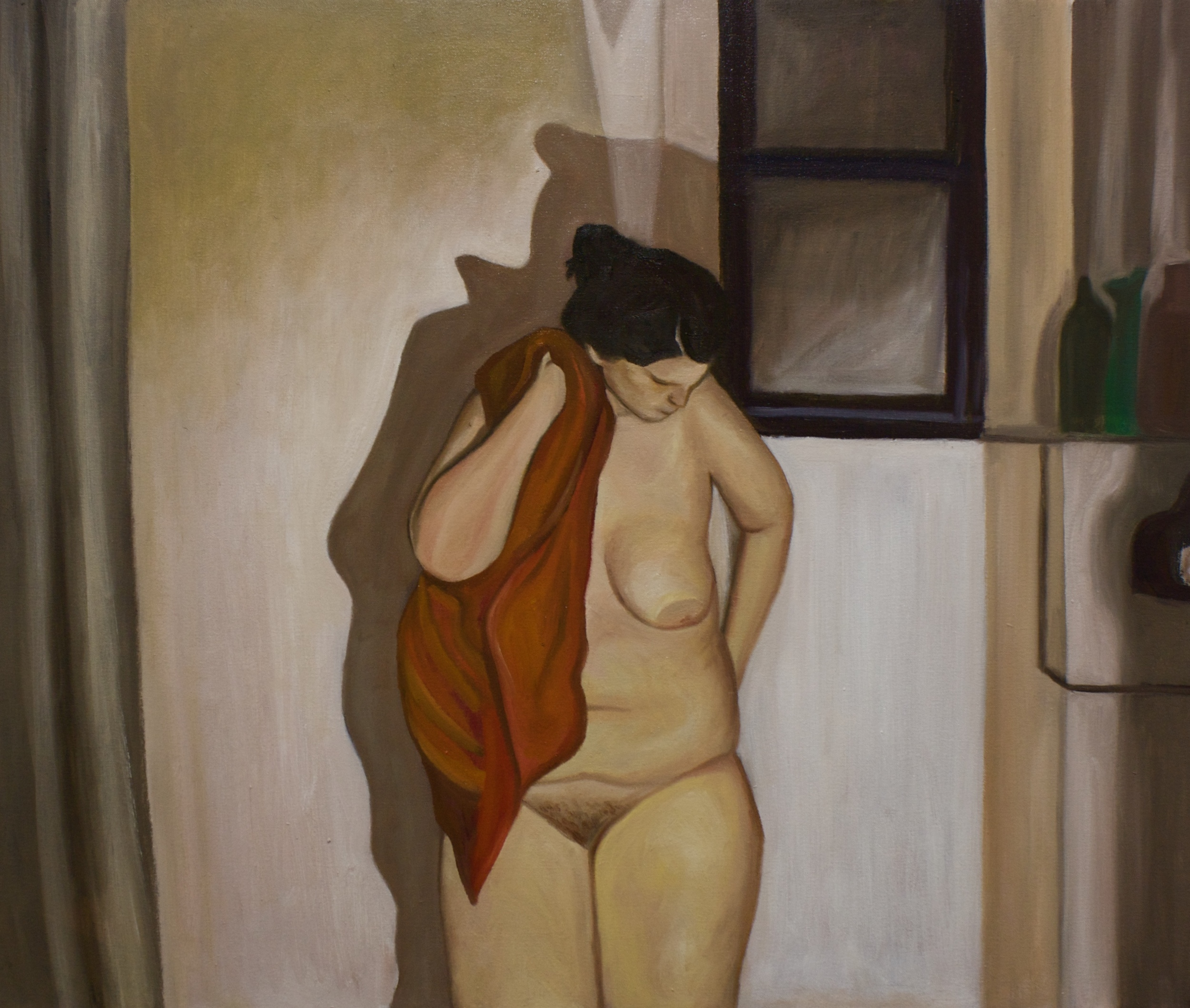 "Self-Portrait   27""x 32"" Oil on Canvas 2013"
