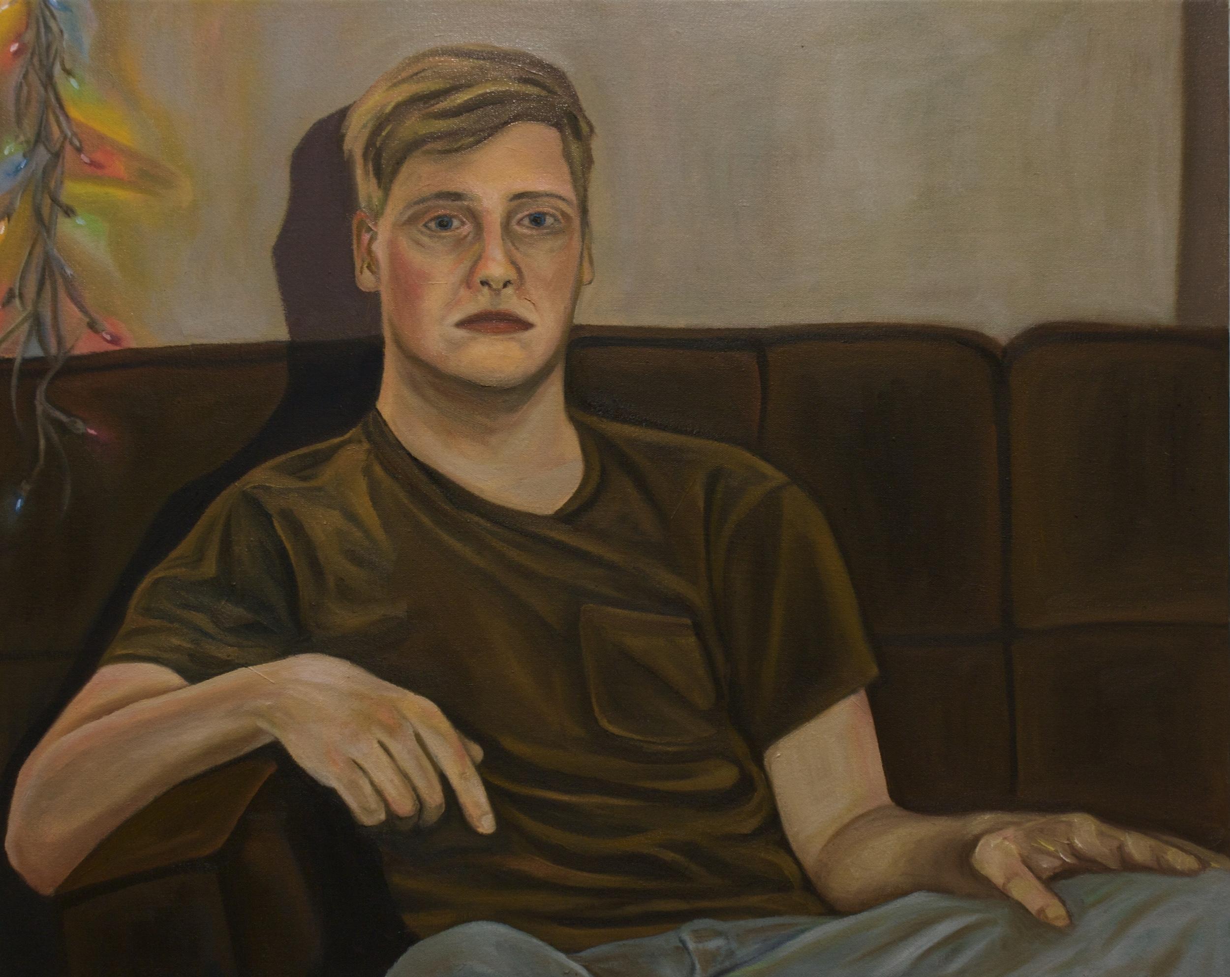 "Hayden   21""x 26"" Oil on Canvas 2013"