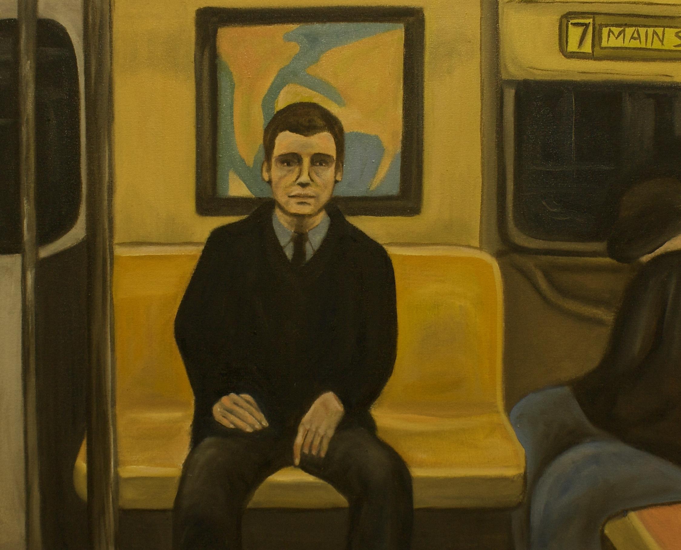"""Train Ride   29""""x 34"""" Oil on Canvas 2014"""