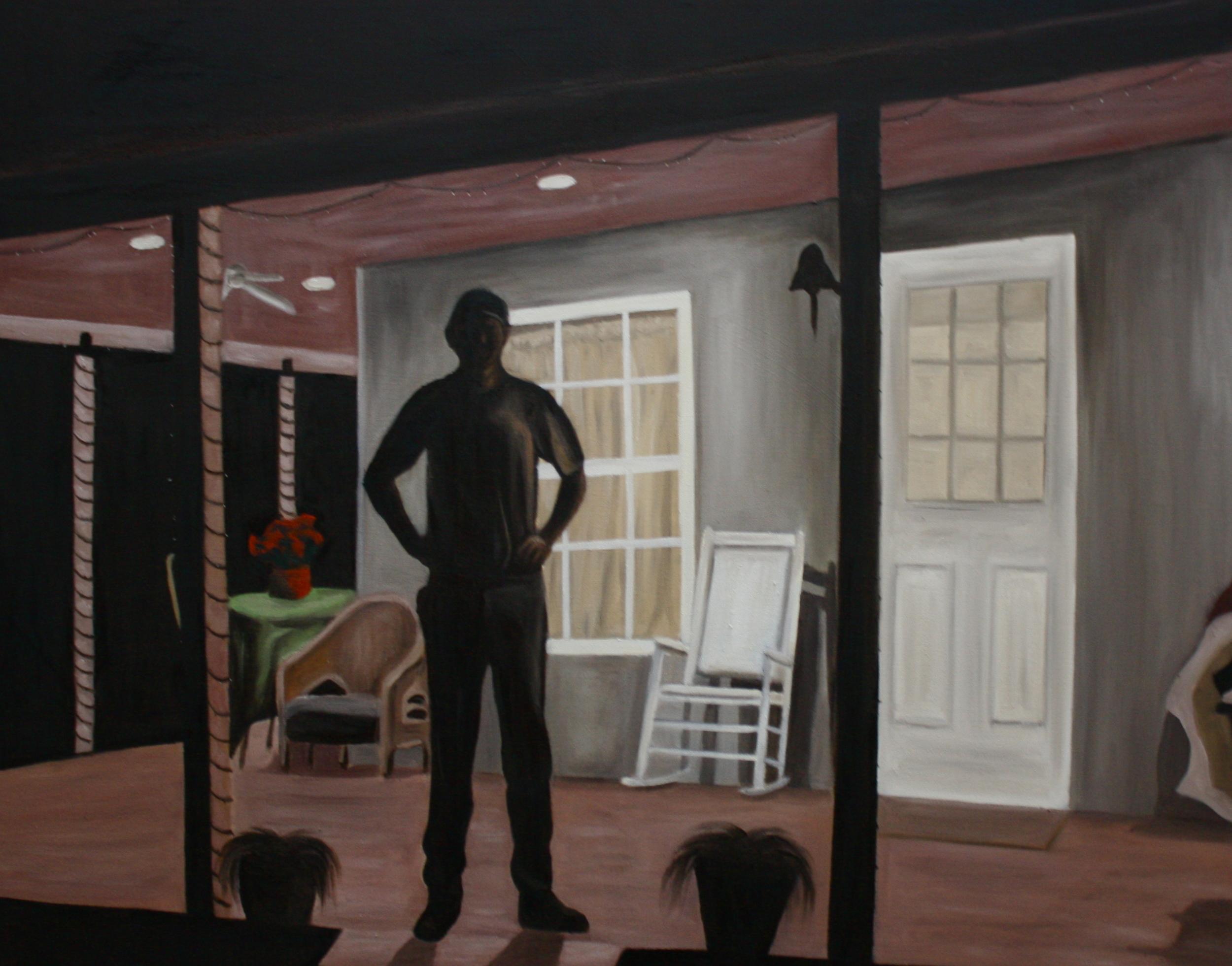 "Night Watch   36""x 48"" Oil on Canvas 2011"