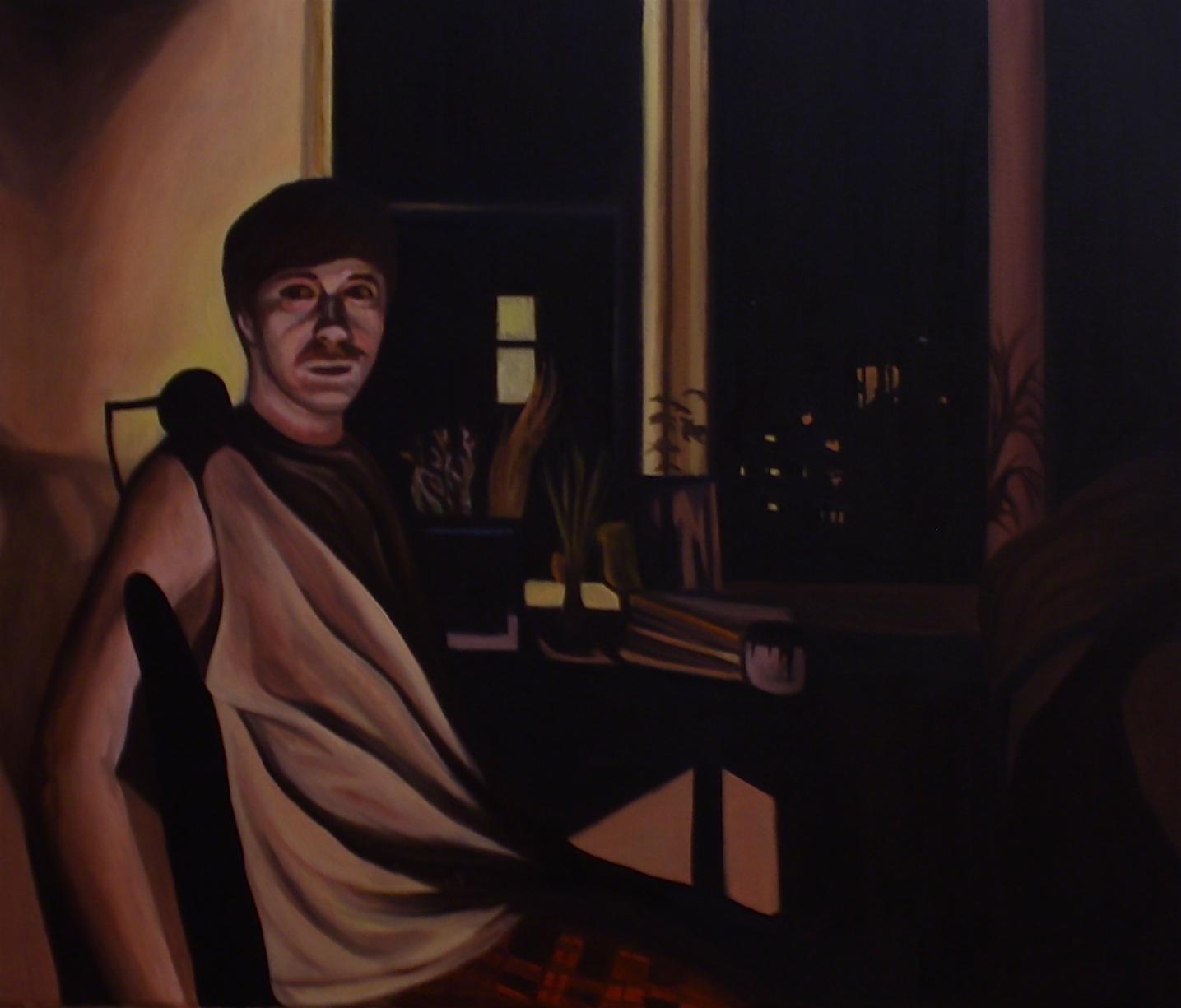 "Adam   29""x 34"" Oil on Canvas 2012"