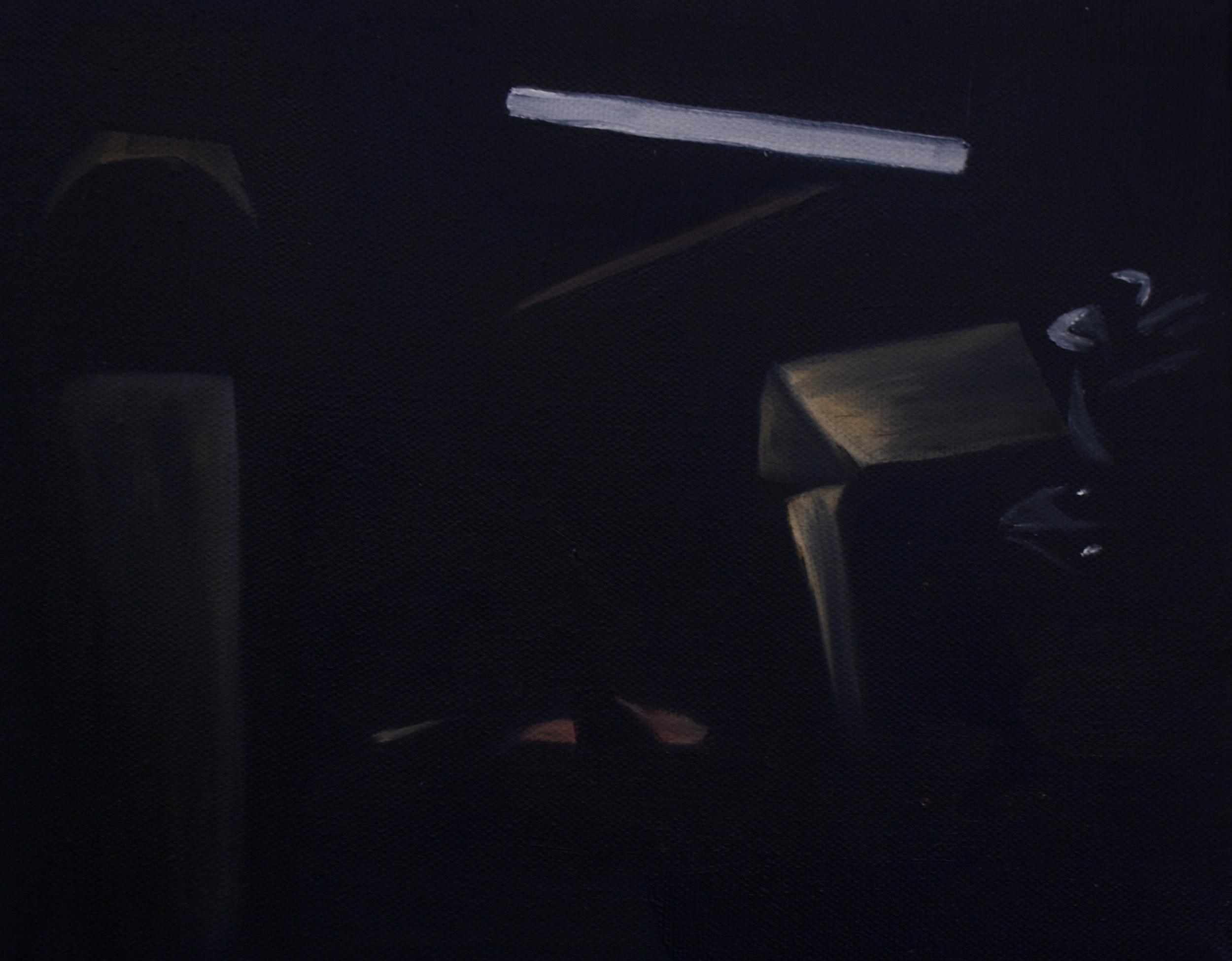 """Barn   8""""x 11"""" Oil on Canvas 2014"""