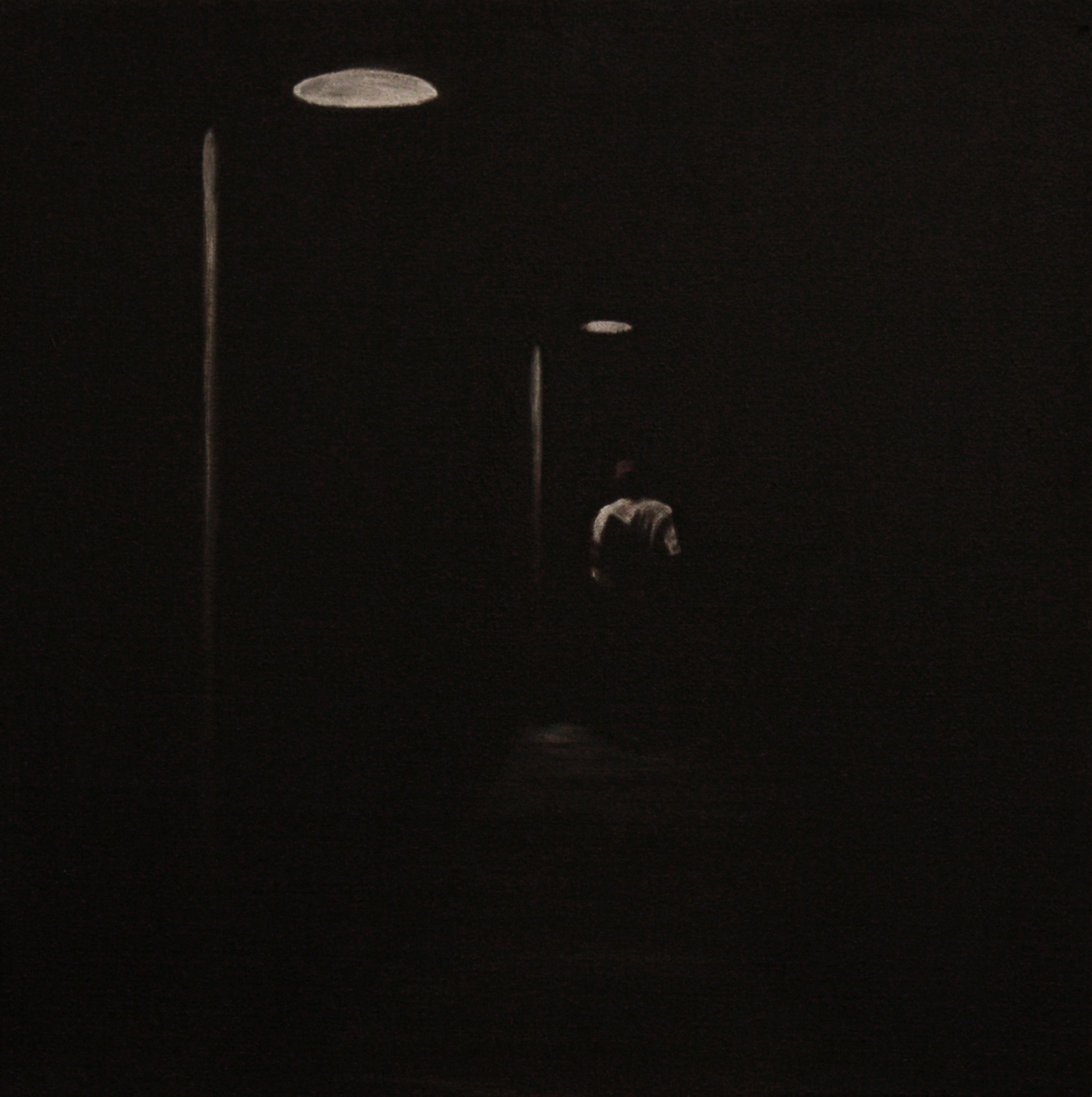 "Pier   20""x 20"" Oil on Canvas 2012"