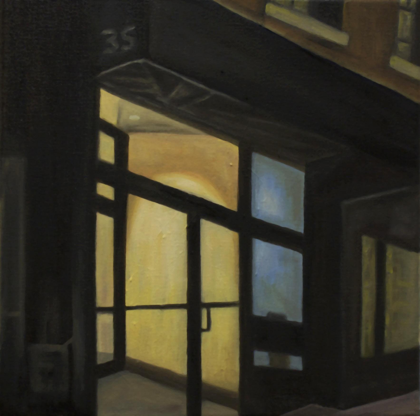 "Monument (Philip Seymour Hoffman)   12""x 12"" Oil on Canvas 2014"