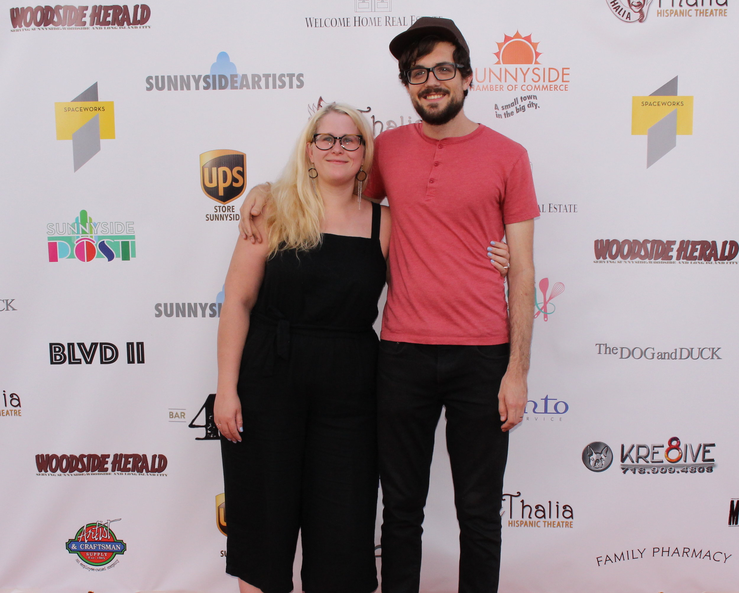 Boulevard Film Festival 2017 Co-founders: Amanda Barker and Matthew Carlson. Photo: Jules Fuentes