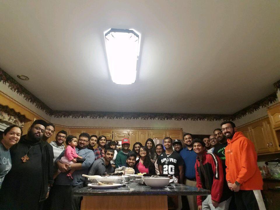 """Game Night"" fellowship at Abi Achen and Sibyl Kochamma's house on Feb 22nd, 2017"