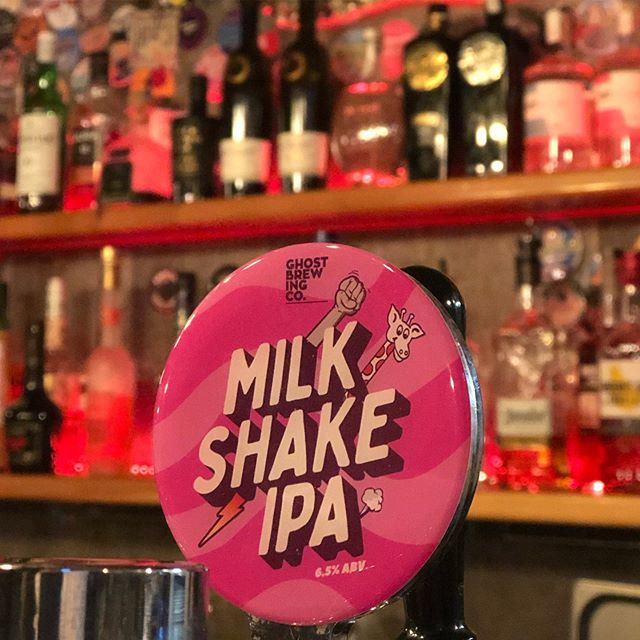 Have you tried the @ghost_brewing Milkshake IPA yet? A hazy IPA taken further with lactose, apricot puree and vanilla. #thelongestdrinkintown
