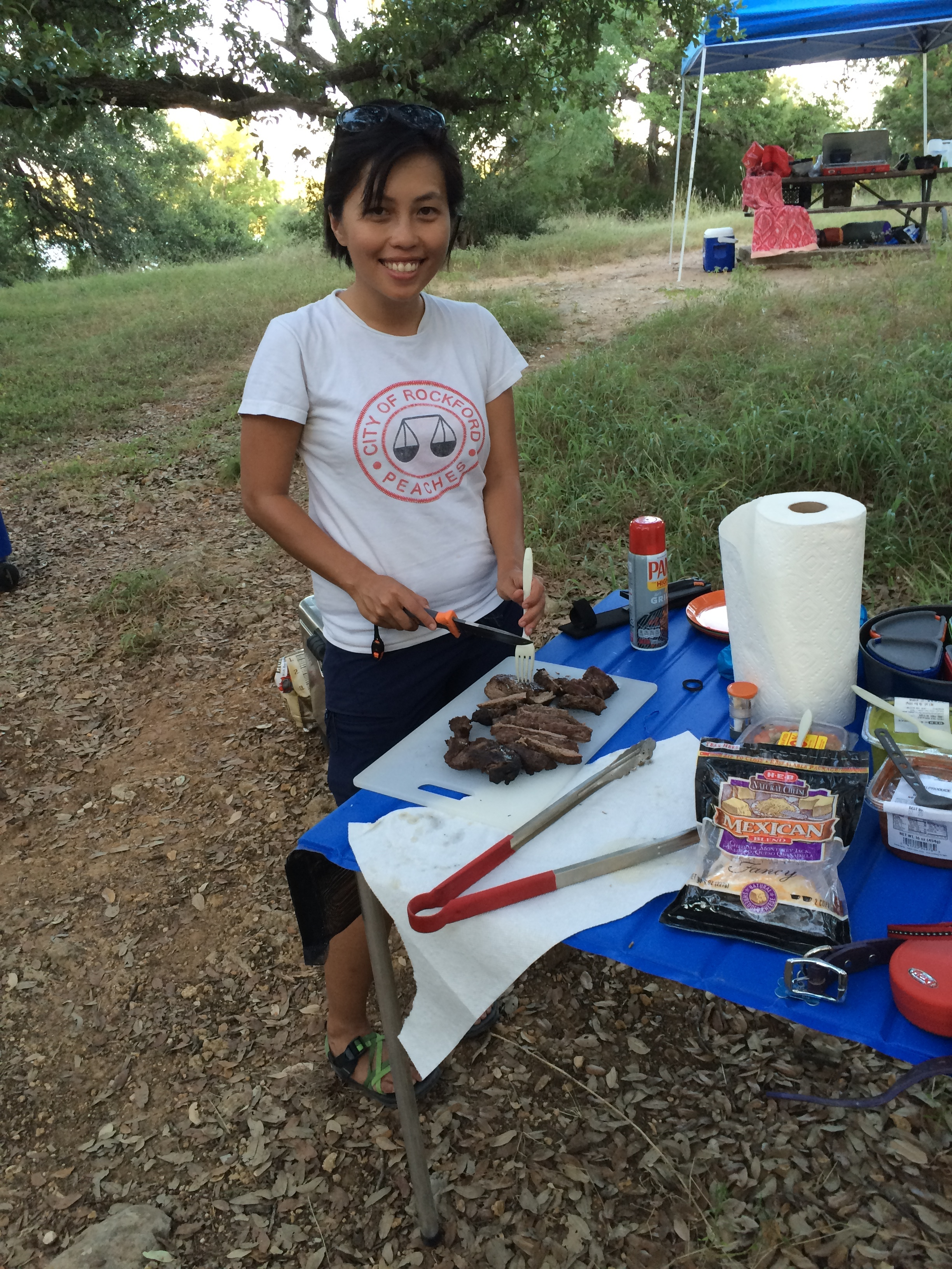 Cooking at camp!