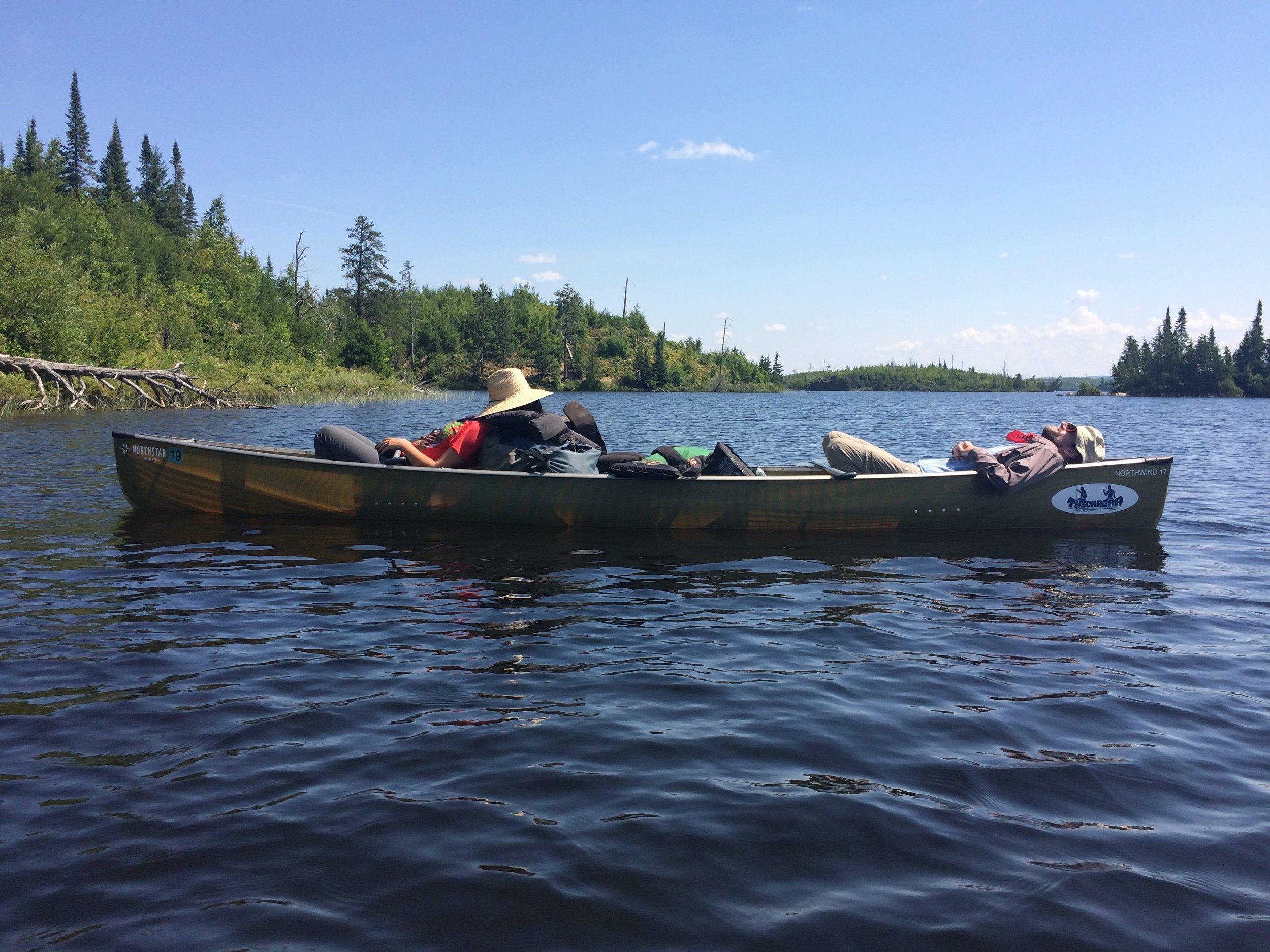 Canoe sleeping
