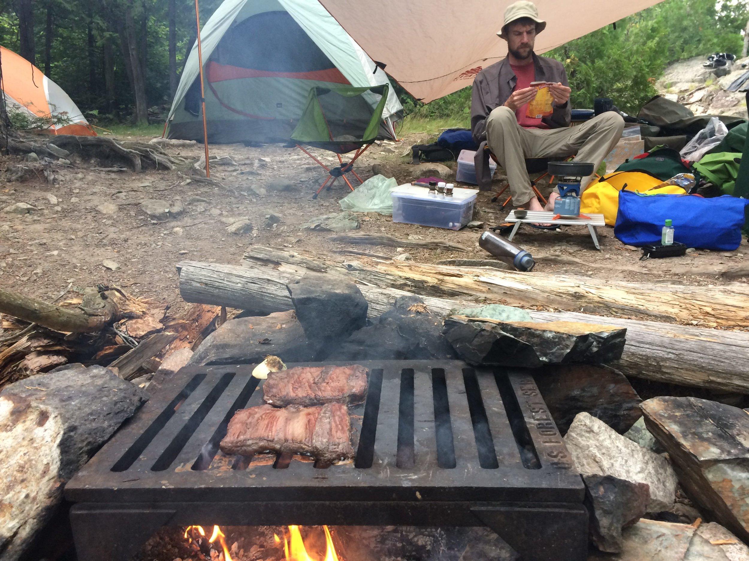 Flank steak camping