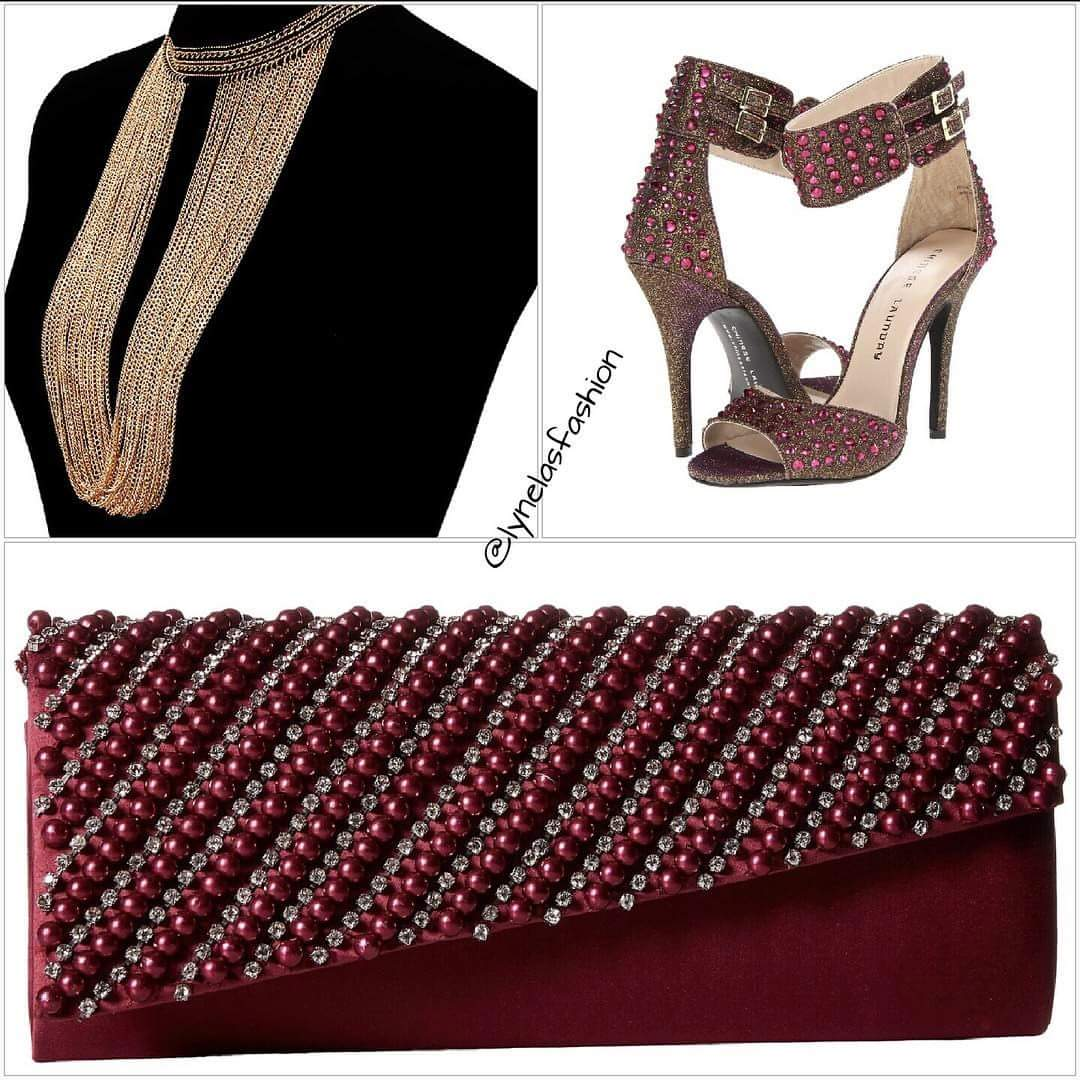 Necklace and Shoes available on site. Clutch coming soom