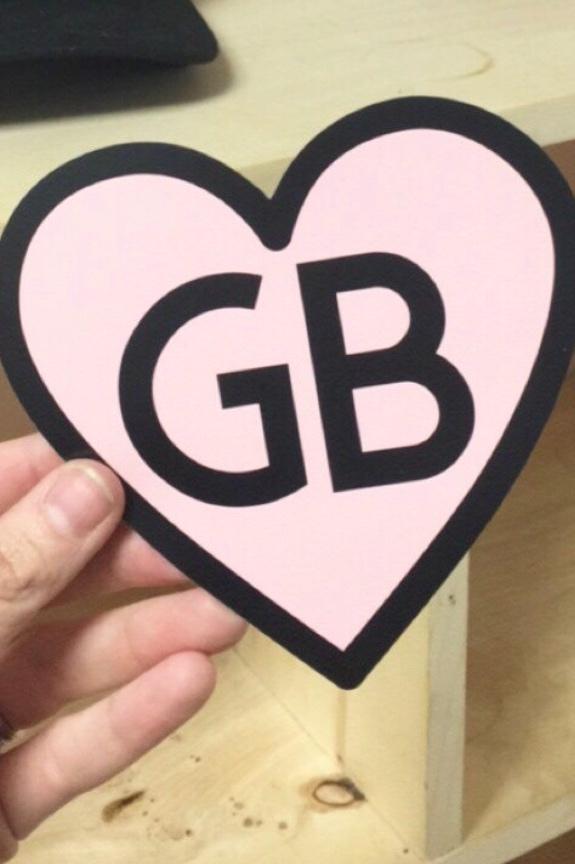 GB HEART CAR MAGNET $5 -