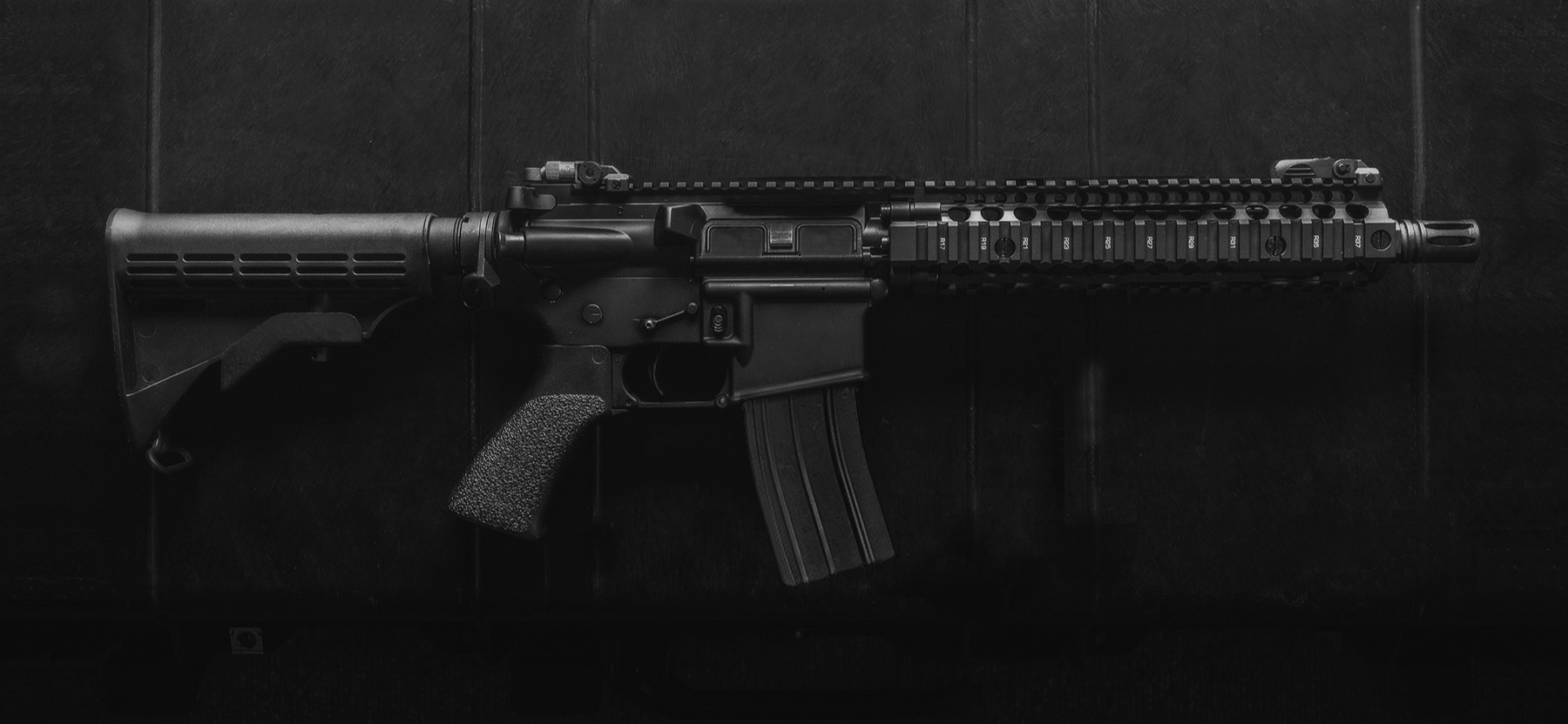 *10-inch SBR variant shown with iron sights