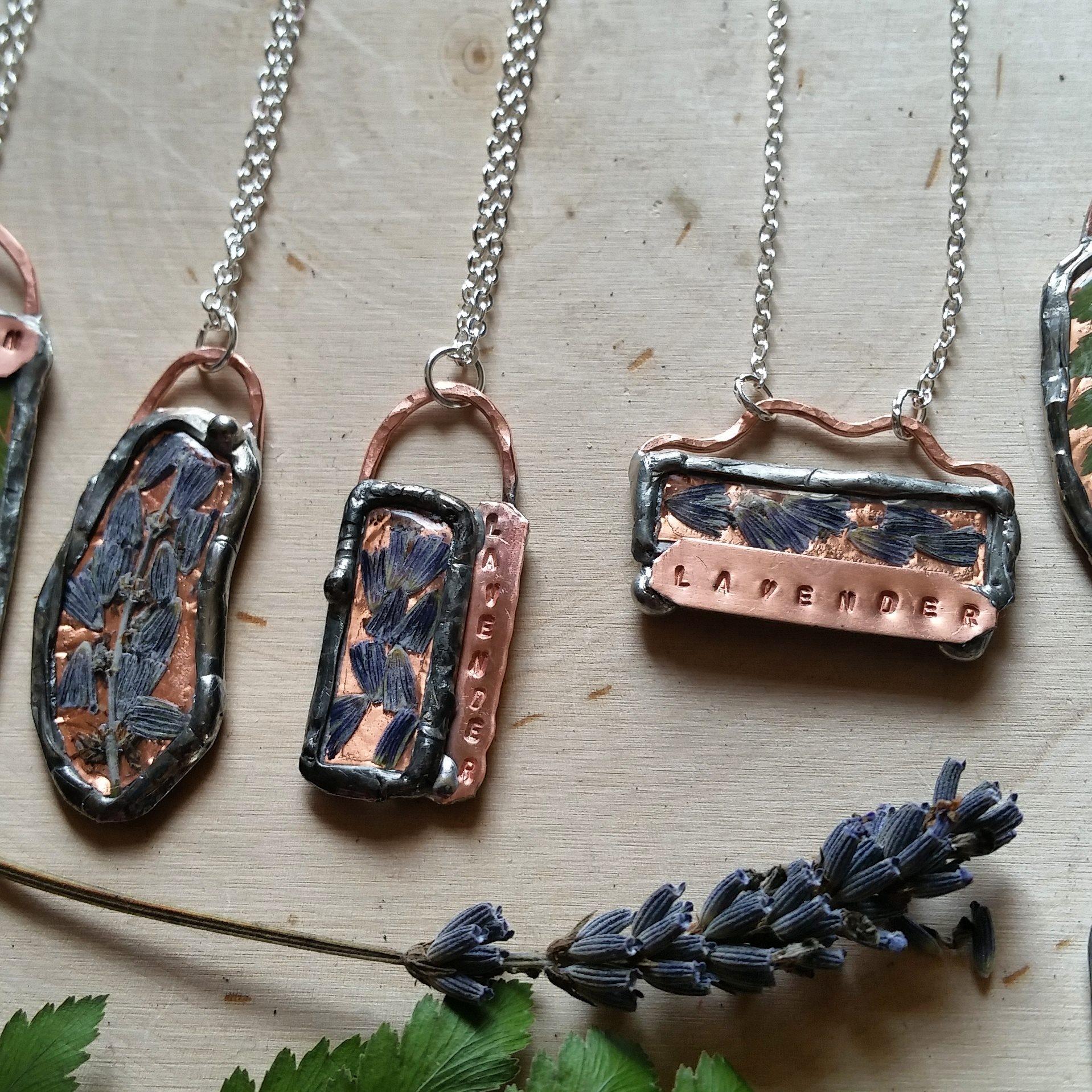 Lavender & Copper Necklaces