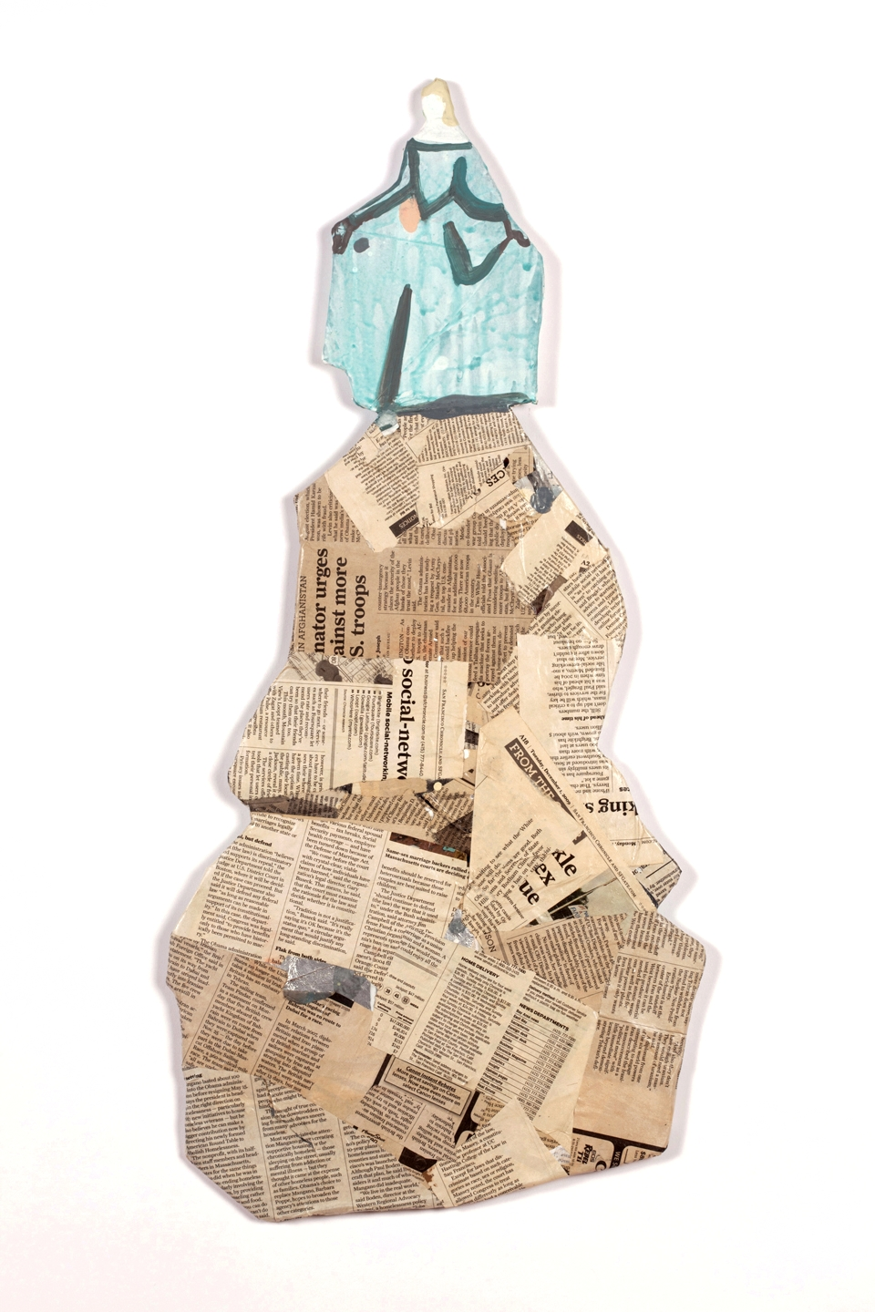 """""Small Figure with Trash""  32"" x 17""  2015"