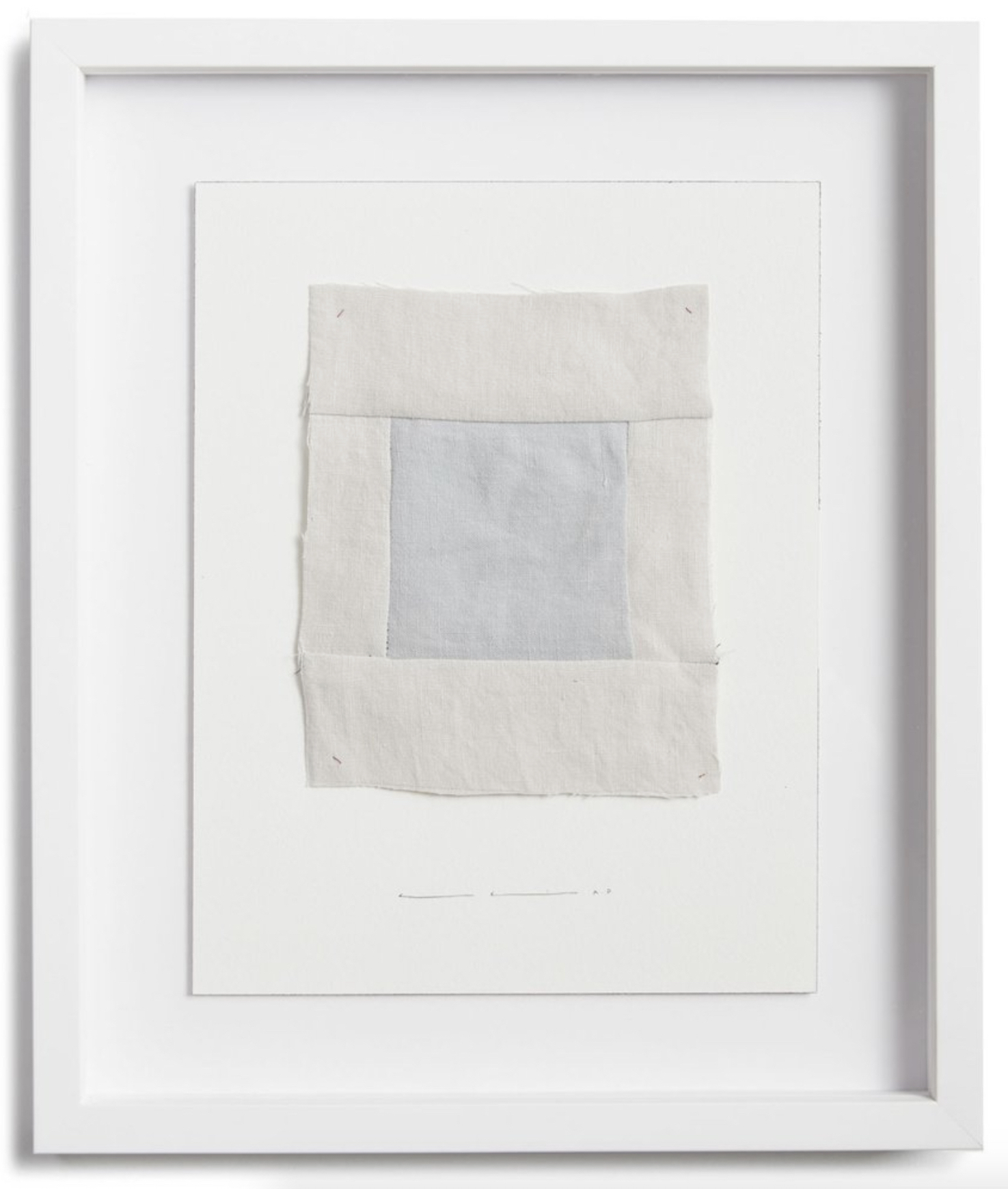 "spending the night in a different bed (venice, california)  quilted parachute linen, cotton thread, and graphite on cotton paper  14"" x 11"" edition of 15  10"" x 8"" edition of 40  parachute, worldwide"