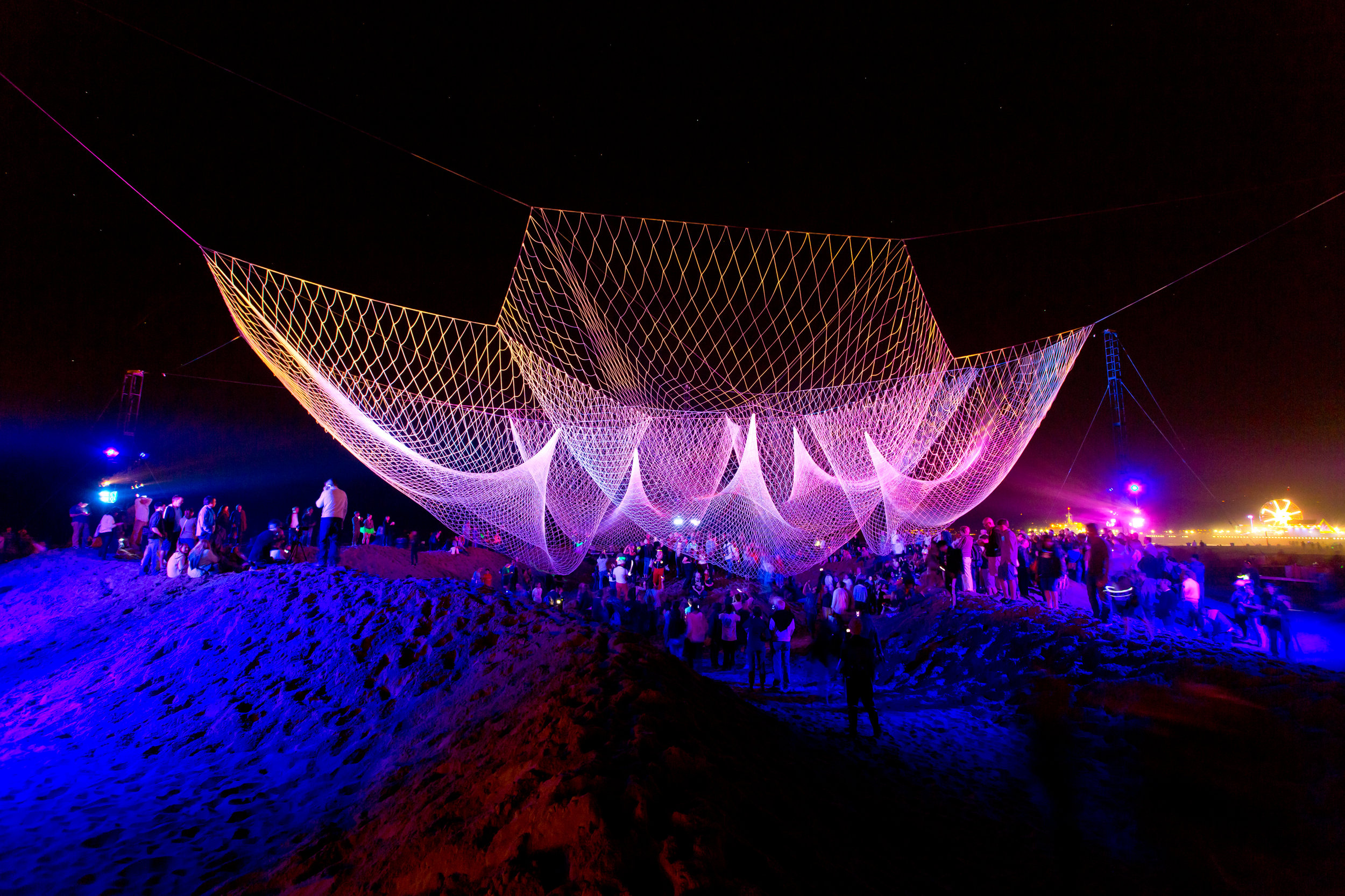 The Space Between Us by Janet Echelman for  Glow 2013   Photo: William Short