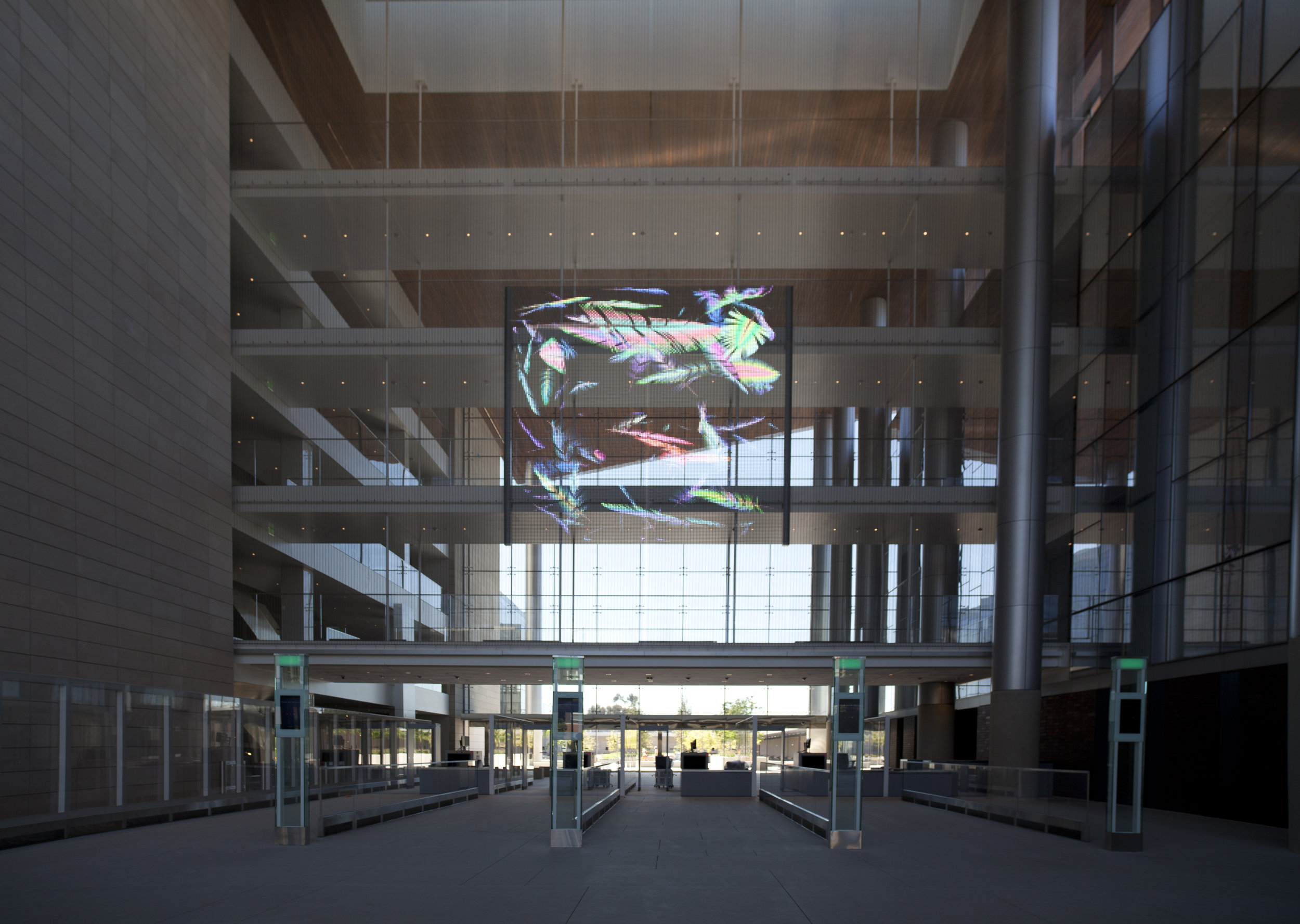 Full view of atrium lobby space