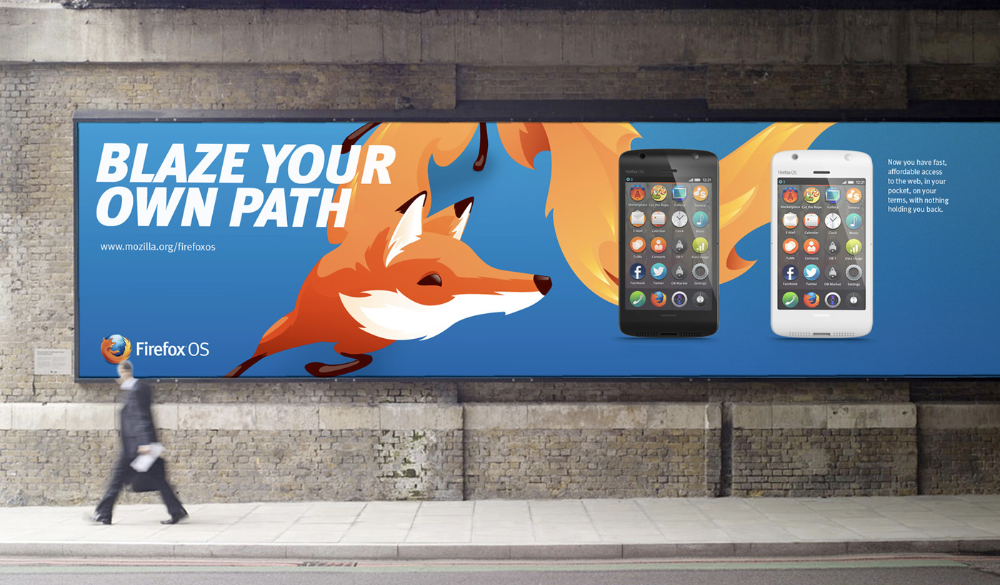 A billboard advertising the final 1.0 product to consumers.
