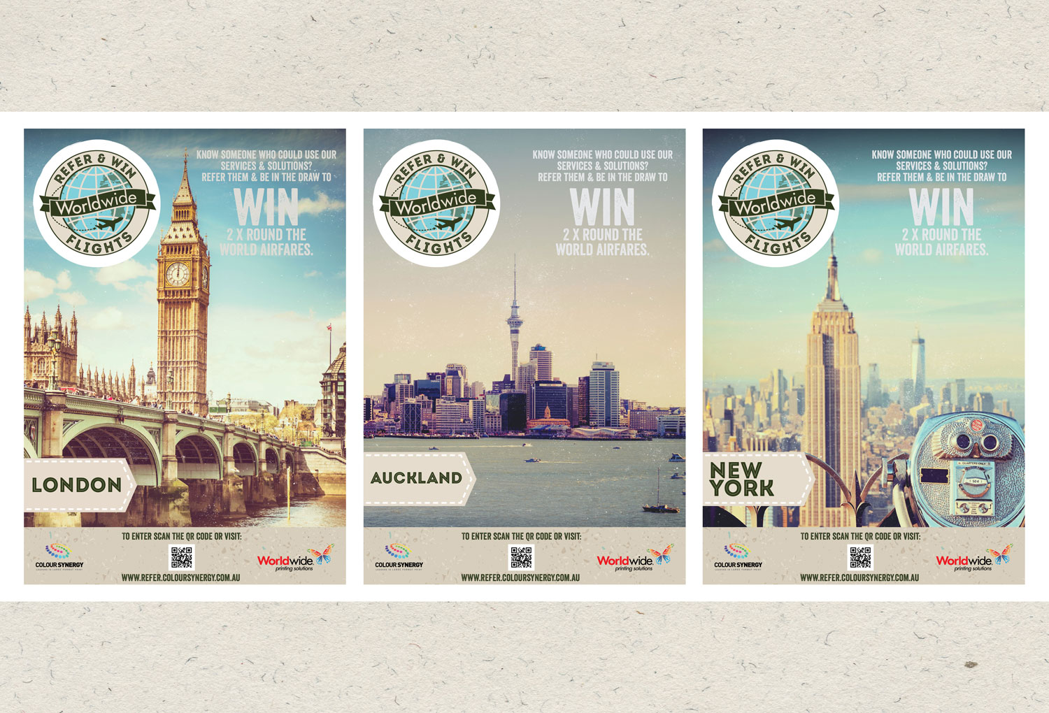 Worldwide Printing | Refer and Win Campaign Posters