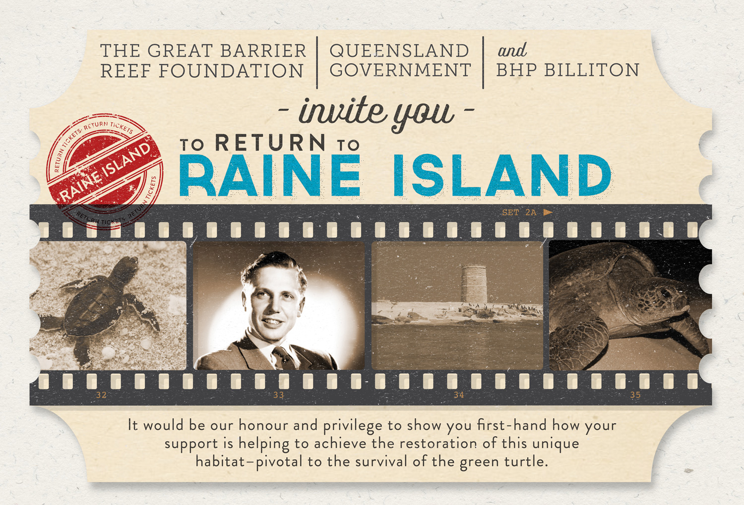 Queensland Government | Invitation to Sir David Attenborough on behalf of Environmental and Heritage Protection | Die cut and spot varnished