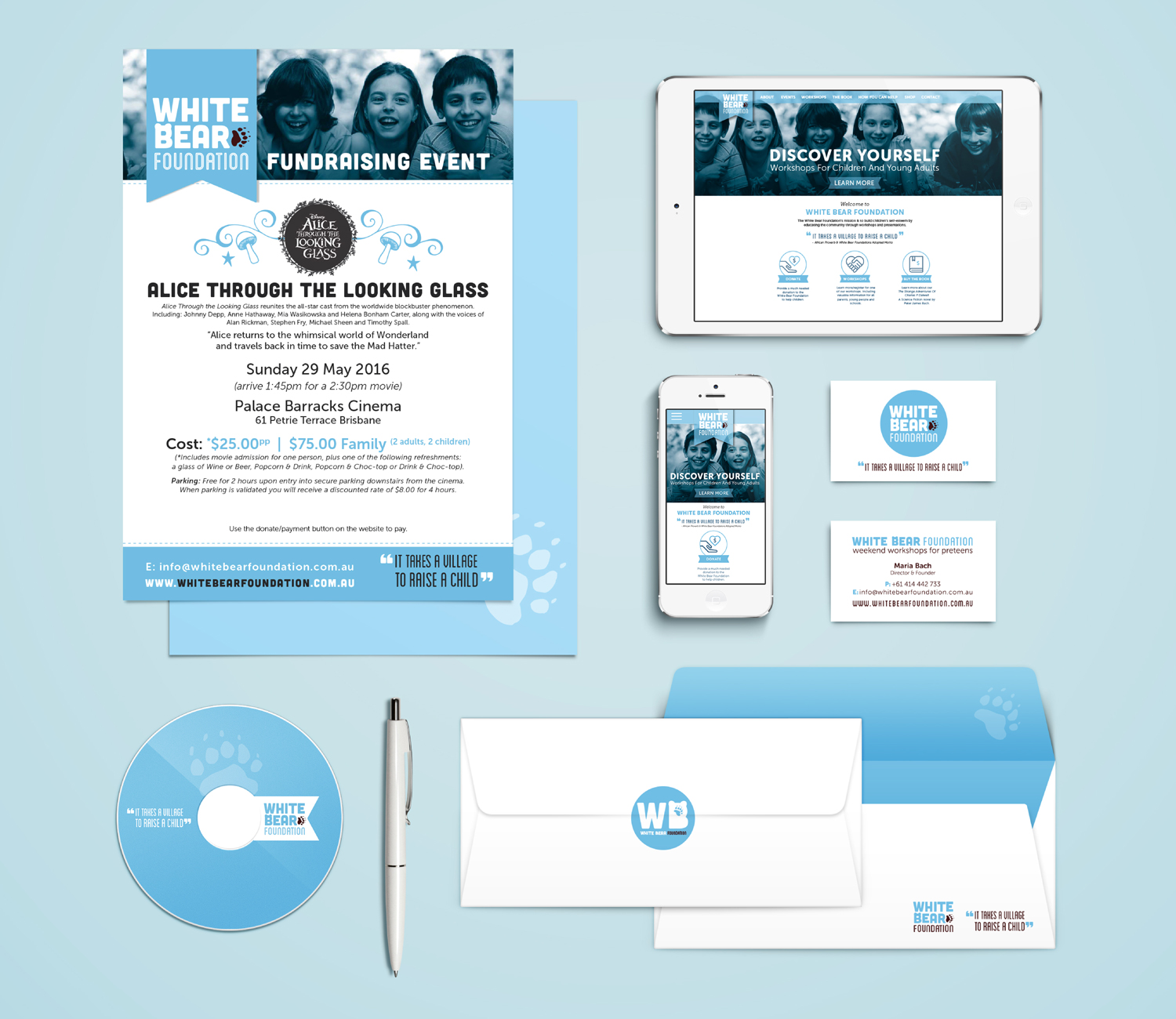 White Bear Foundation Identity | Stationary