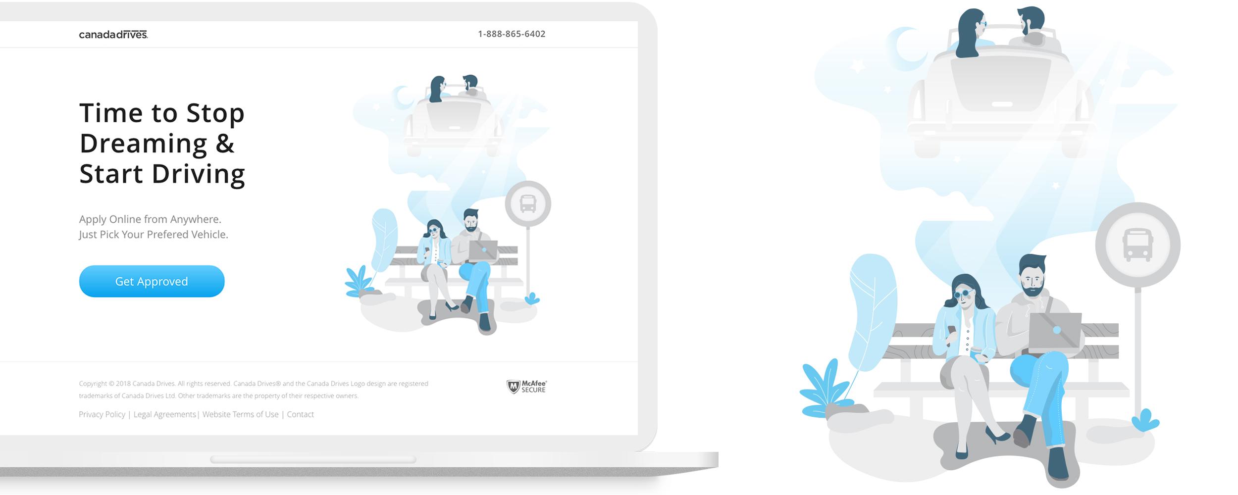 Illustration for website landing page