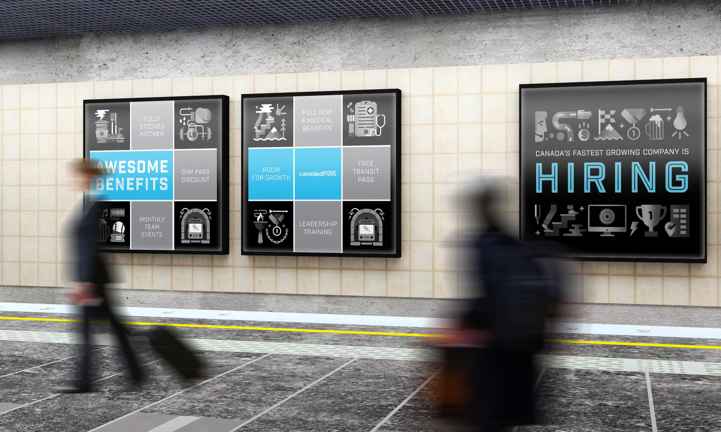 Hiring print campaign subway advertisements