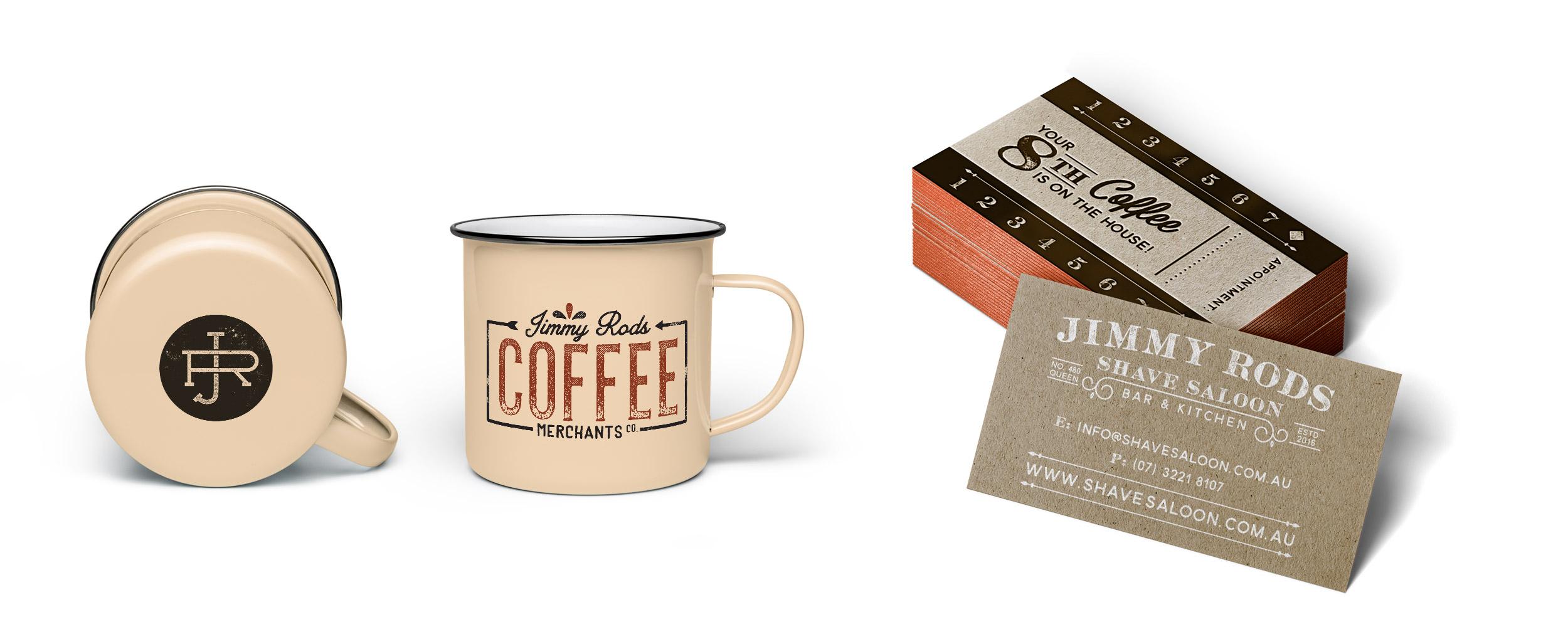 Enamel Coffee Mug Prints   Coffee Loyalty Cards