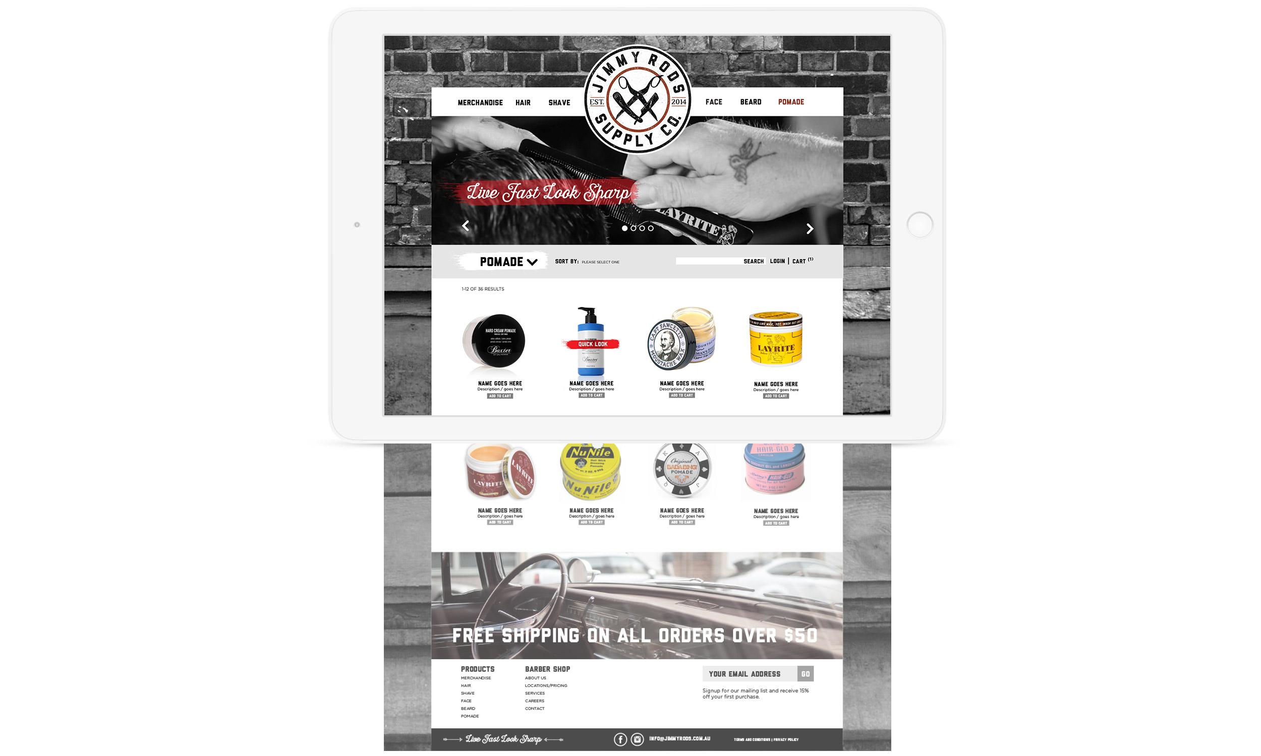 Website shopfront